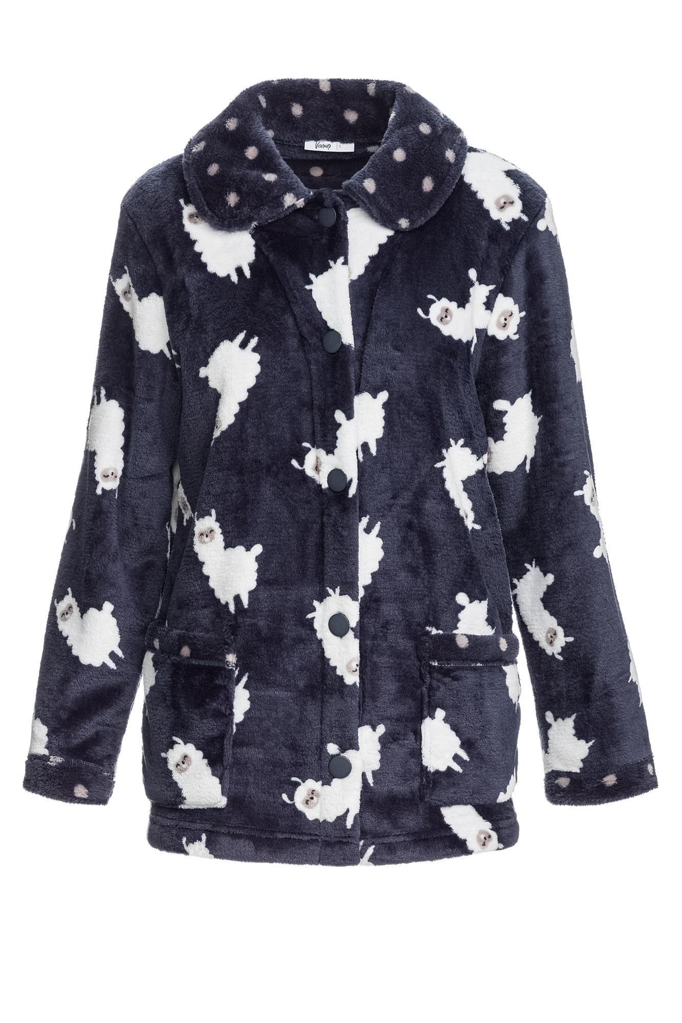 "Women's Buttoned Fleece Jacket ""Lama"""