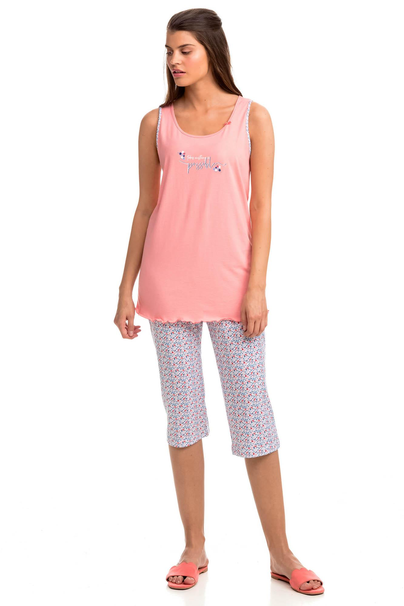 Sleeveless Print Pyjamas