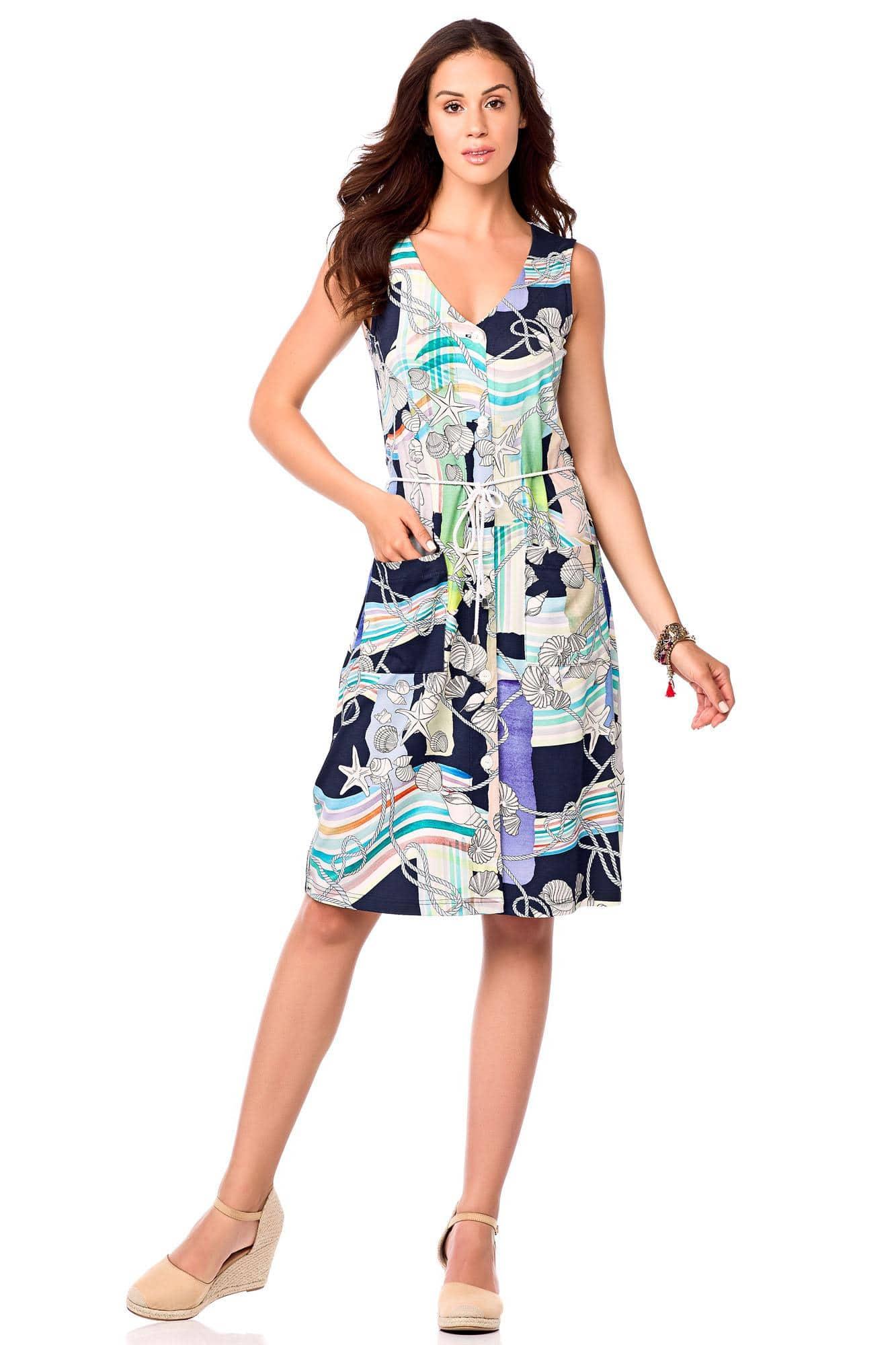 Buttoned Beach Dress
