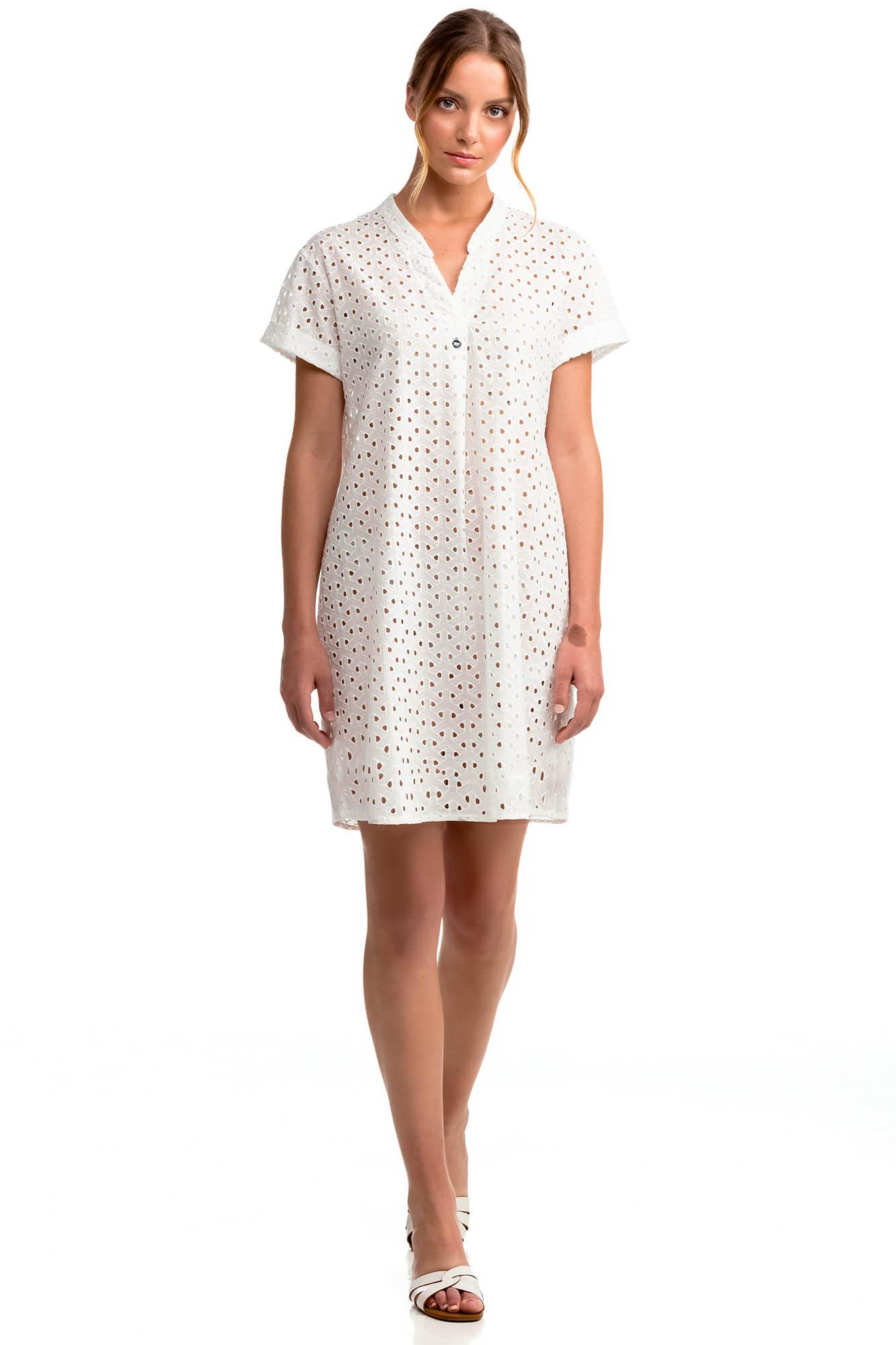 Short-Sleeved Jacquard Dress