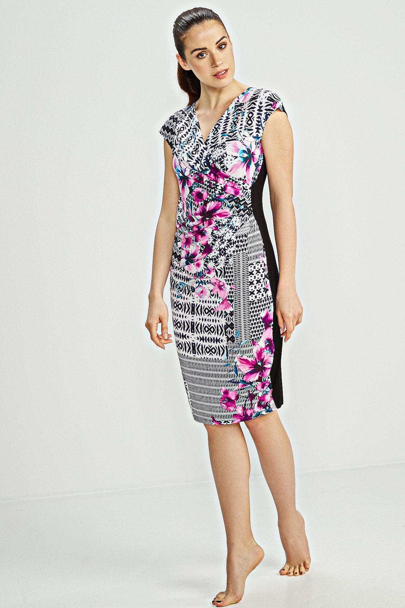 Wrap Print Dress Plus Size