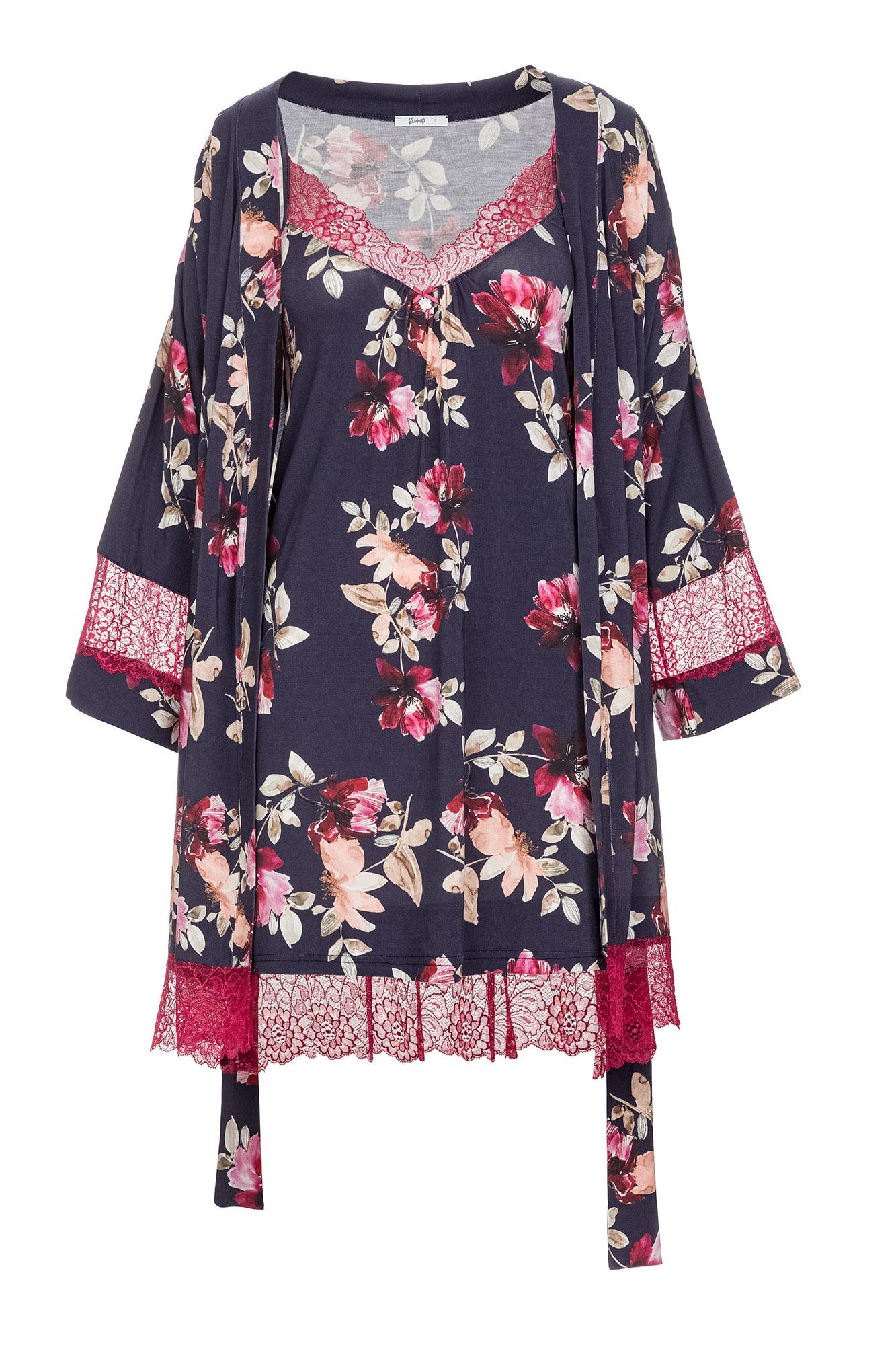 Women's Floral Nightgown and Robe