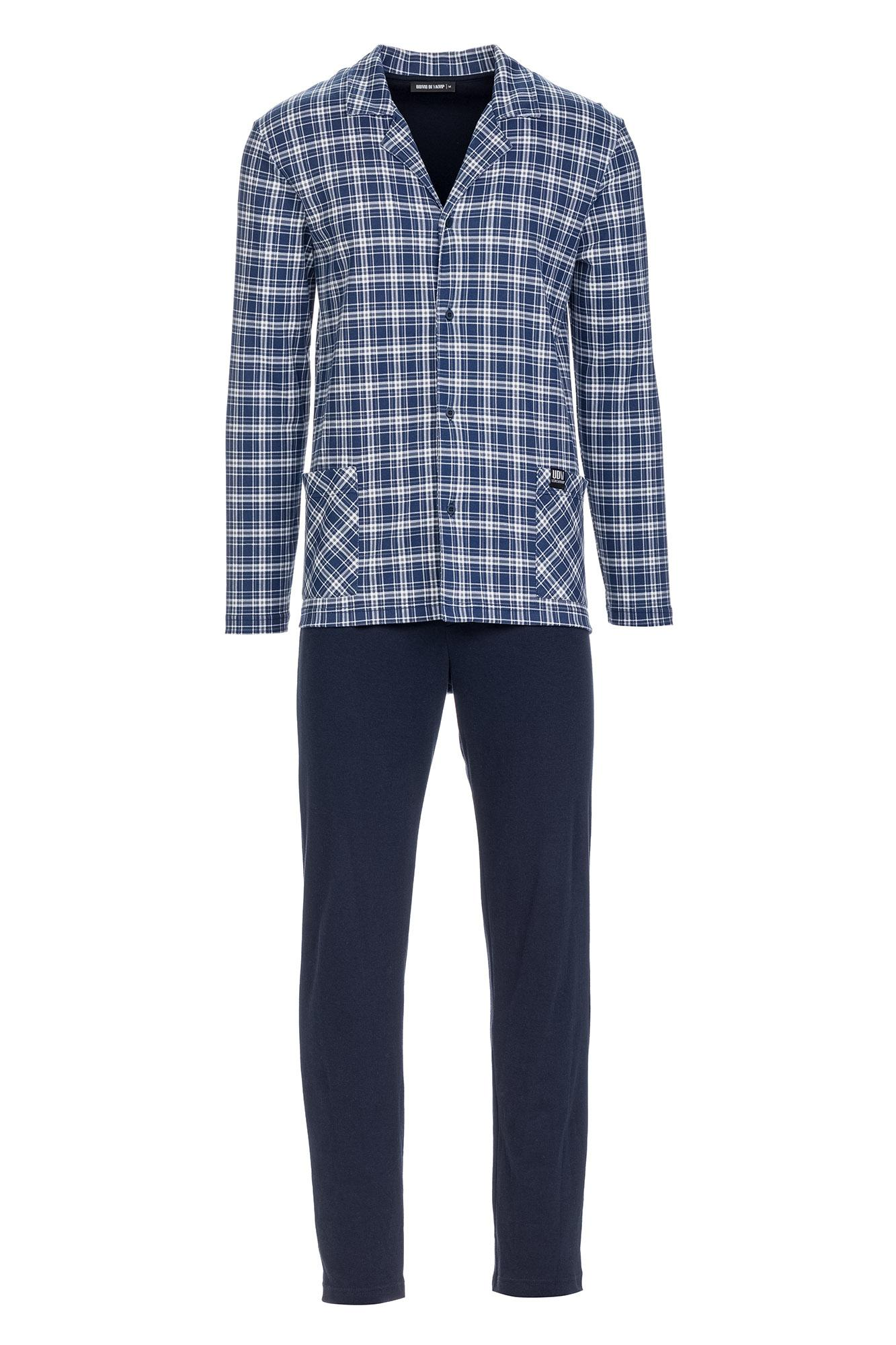 Men's Plaid Buttoned Pyjamas