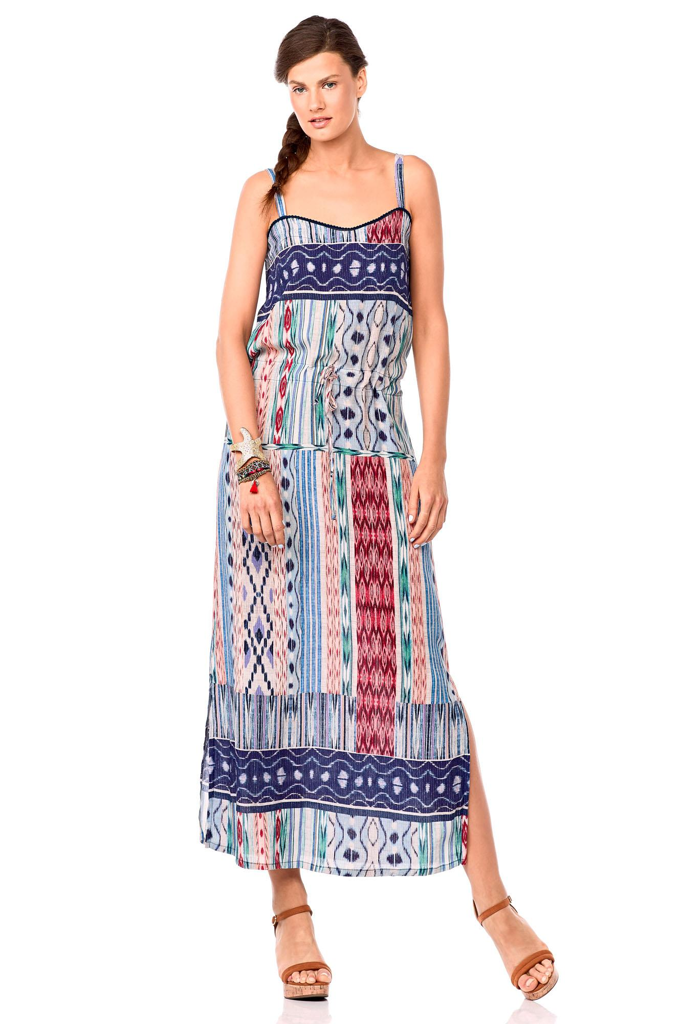 Ethnic Print Long Dress