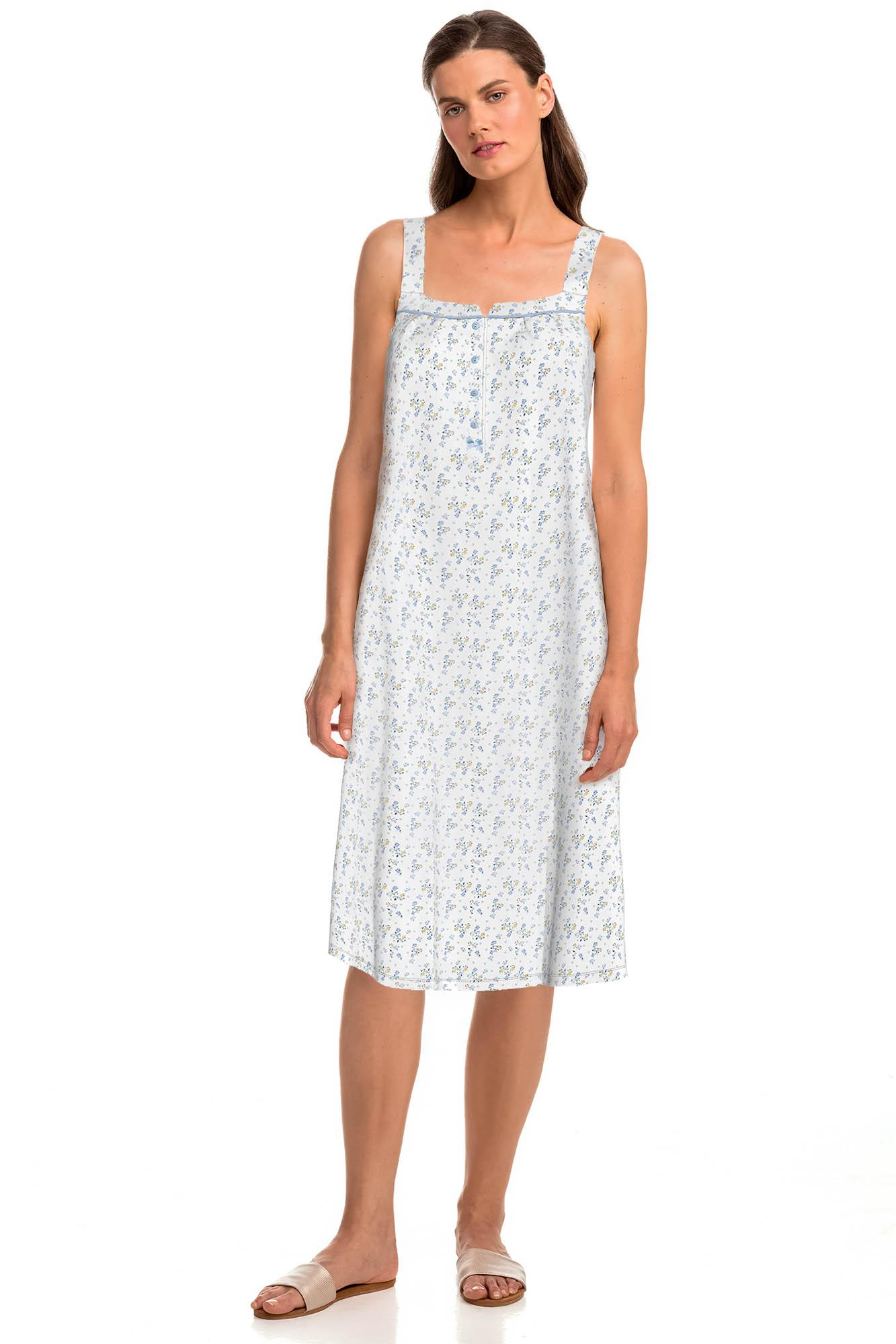 Sleeveless Print Nightgown