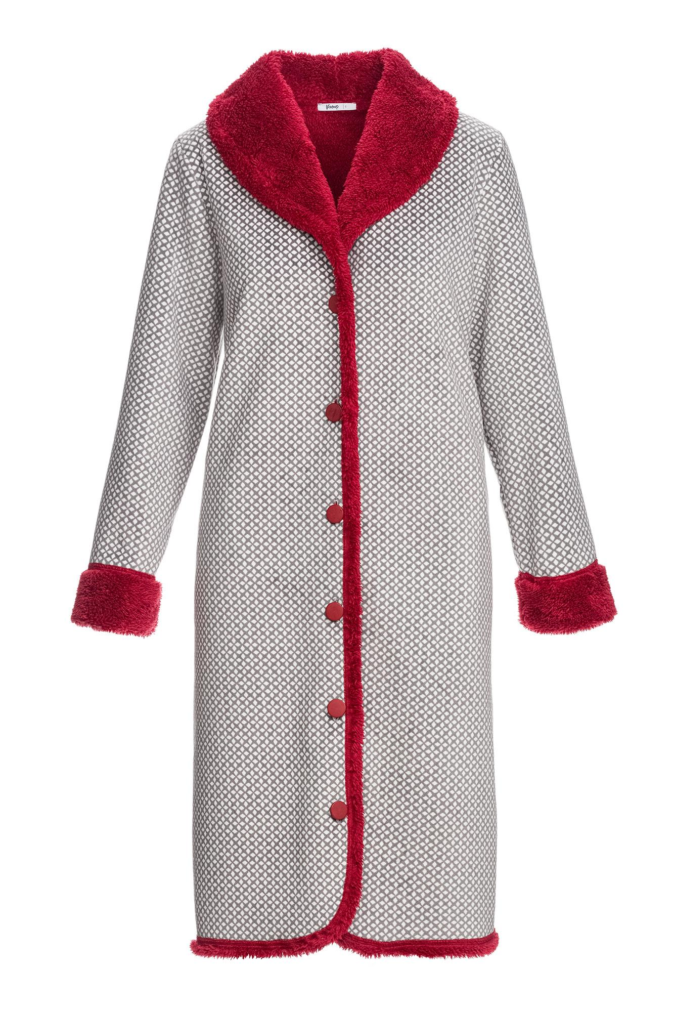 Women's Buttoned Fleece Robe