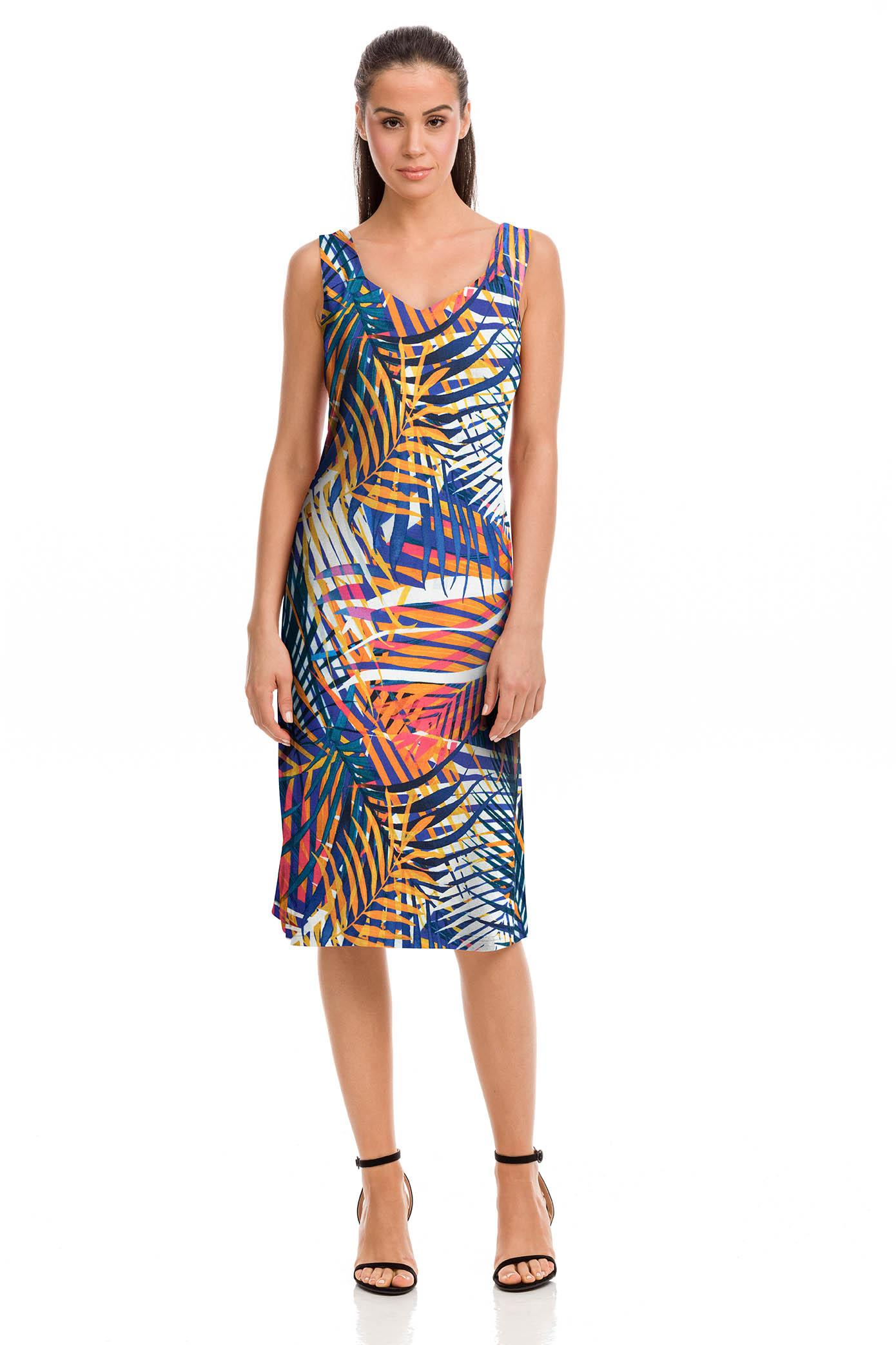 Sleeveless Tropical Dress