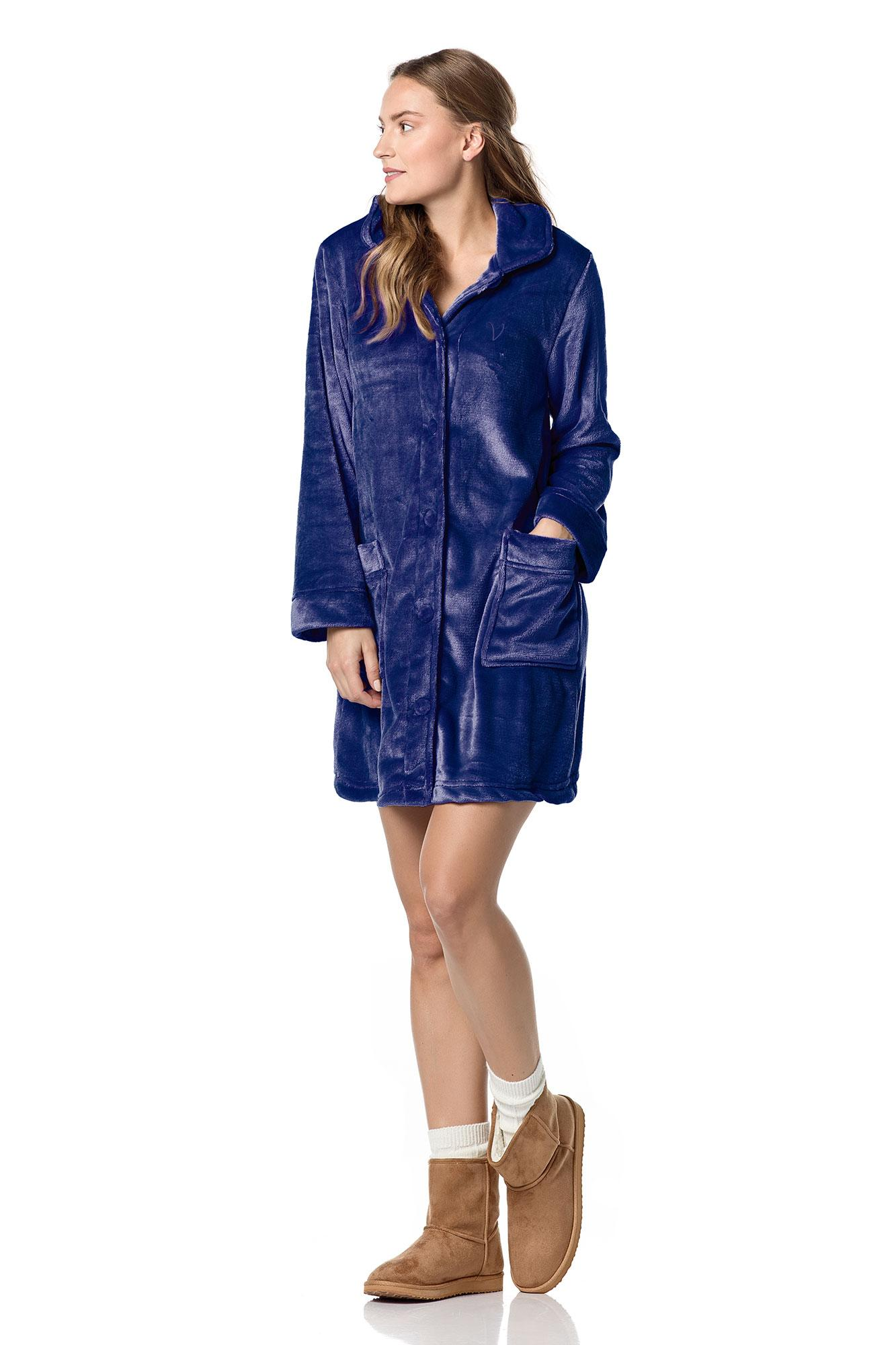 Women's Buttoned Robe