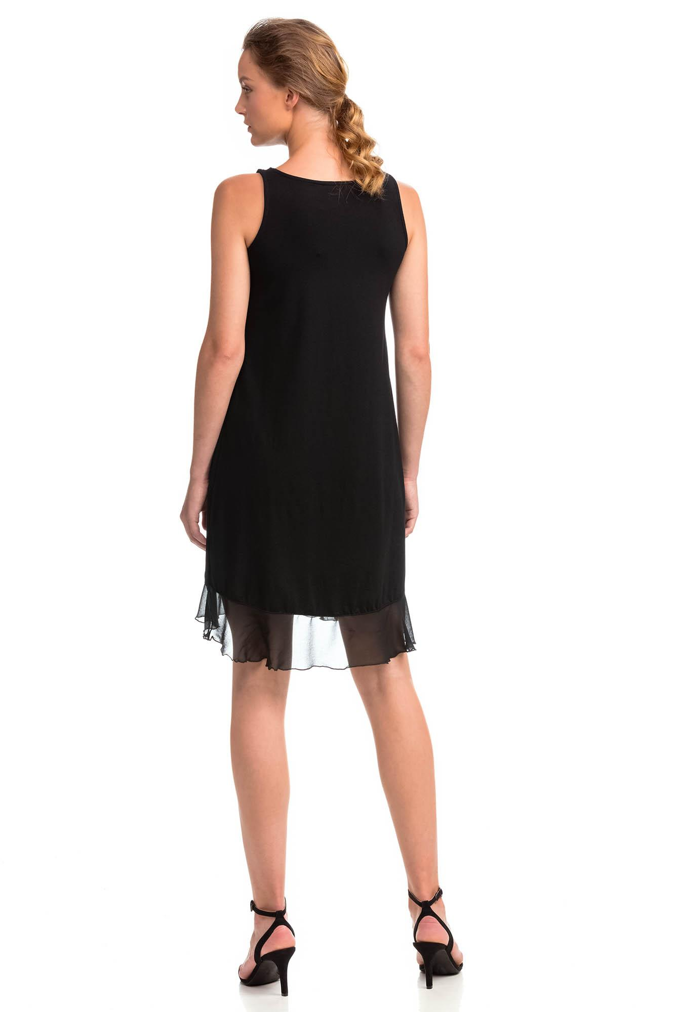 Sleeveless Dress with Frill
