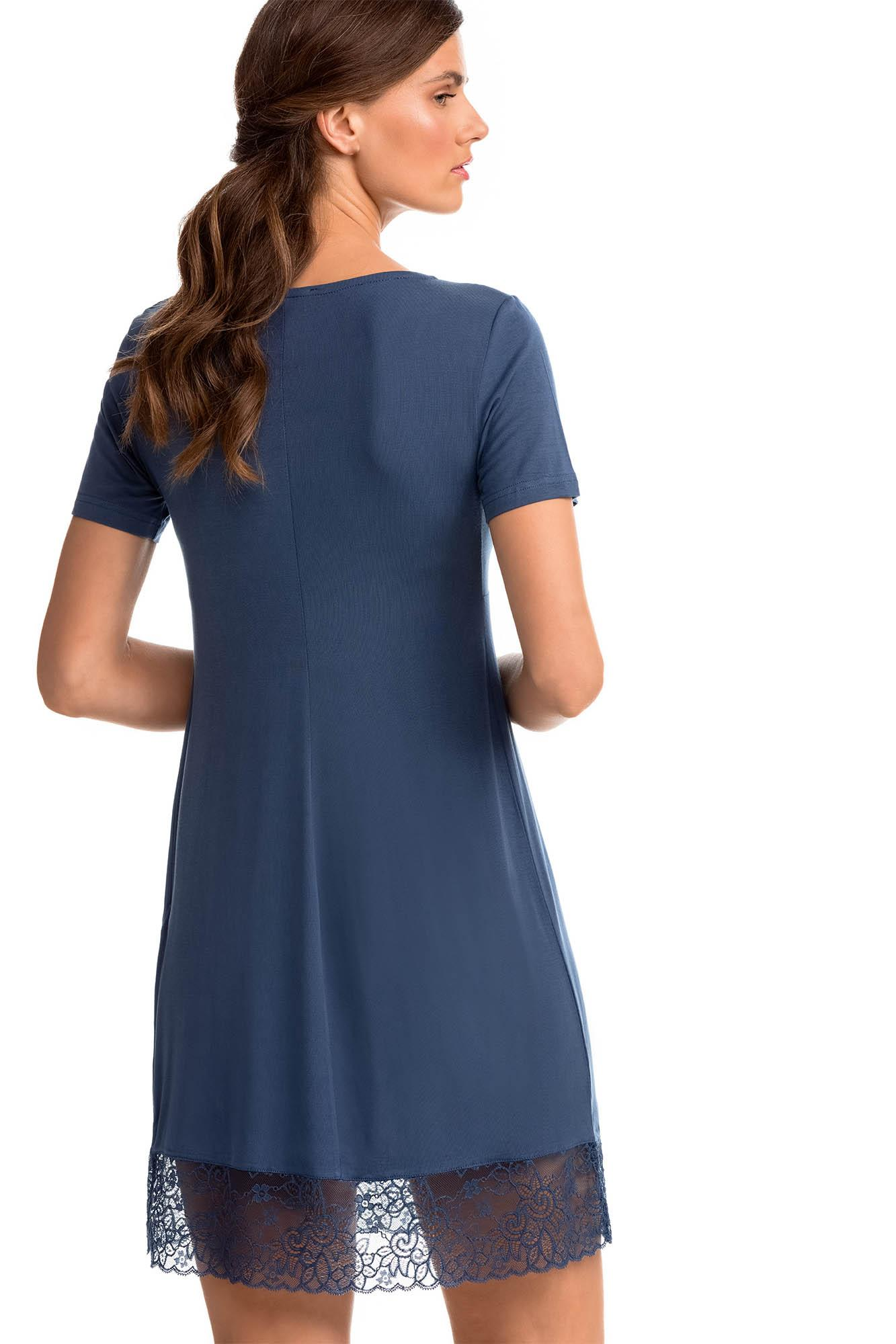 Nursing Nightgown with Lace Details