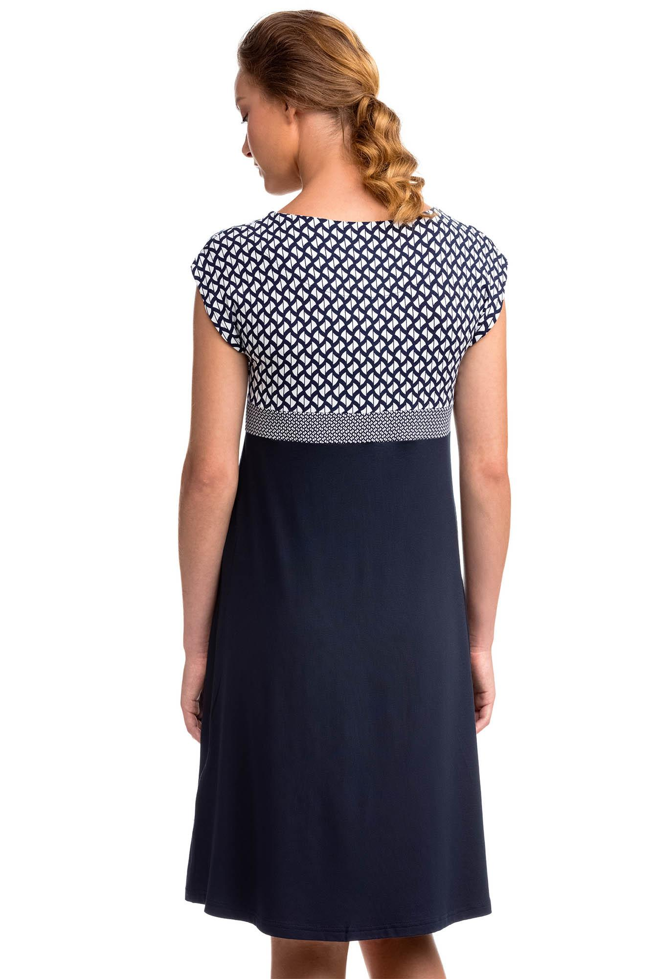 Short Sleeved A-Line Dress