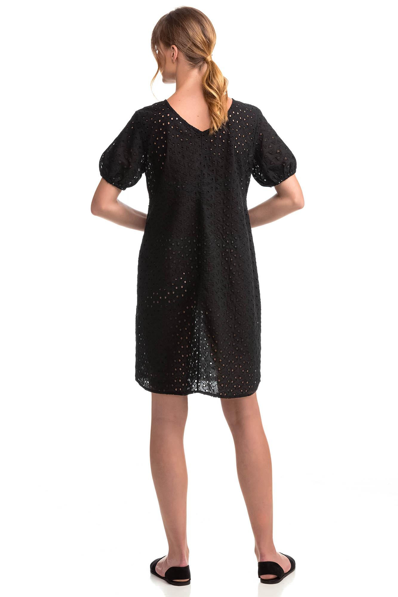 Μονόχρωμο Φόρεμα Ζακάρ