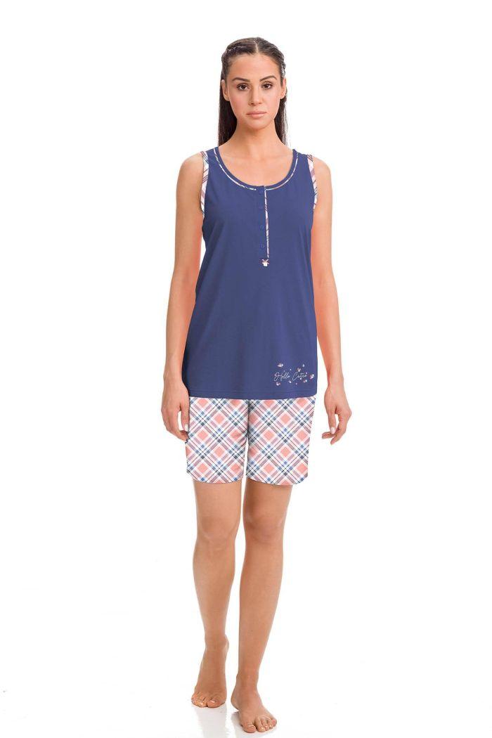 Women's Sleeveless Pyjamas with Bermuda Pants