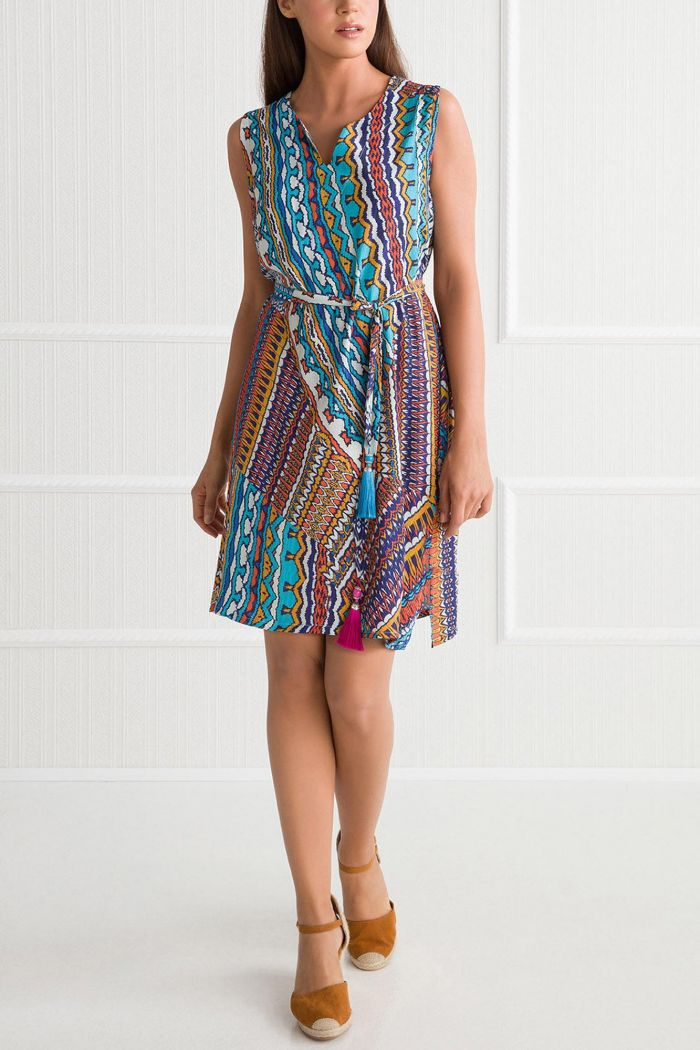 Ethnic Printed Dress with Belt