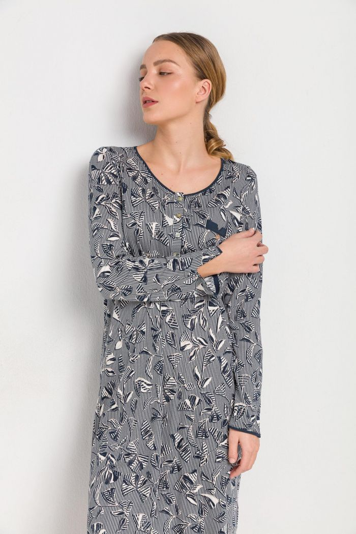 Women's Patterned Nightgown Plus Size