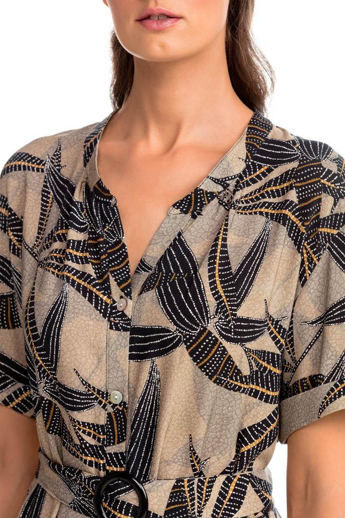 Buttoned Shirt Dress