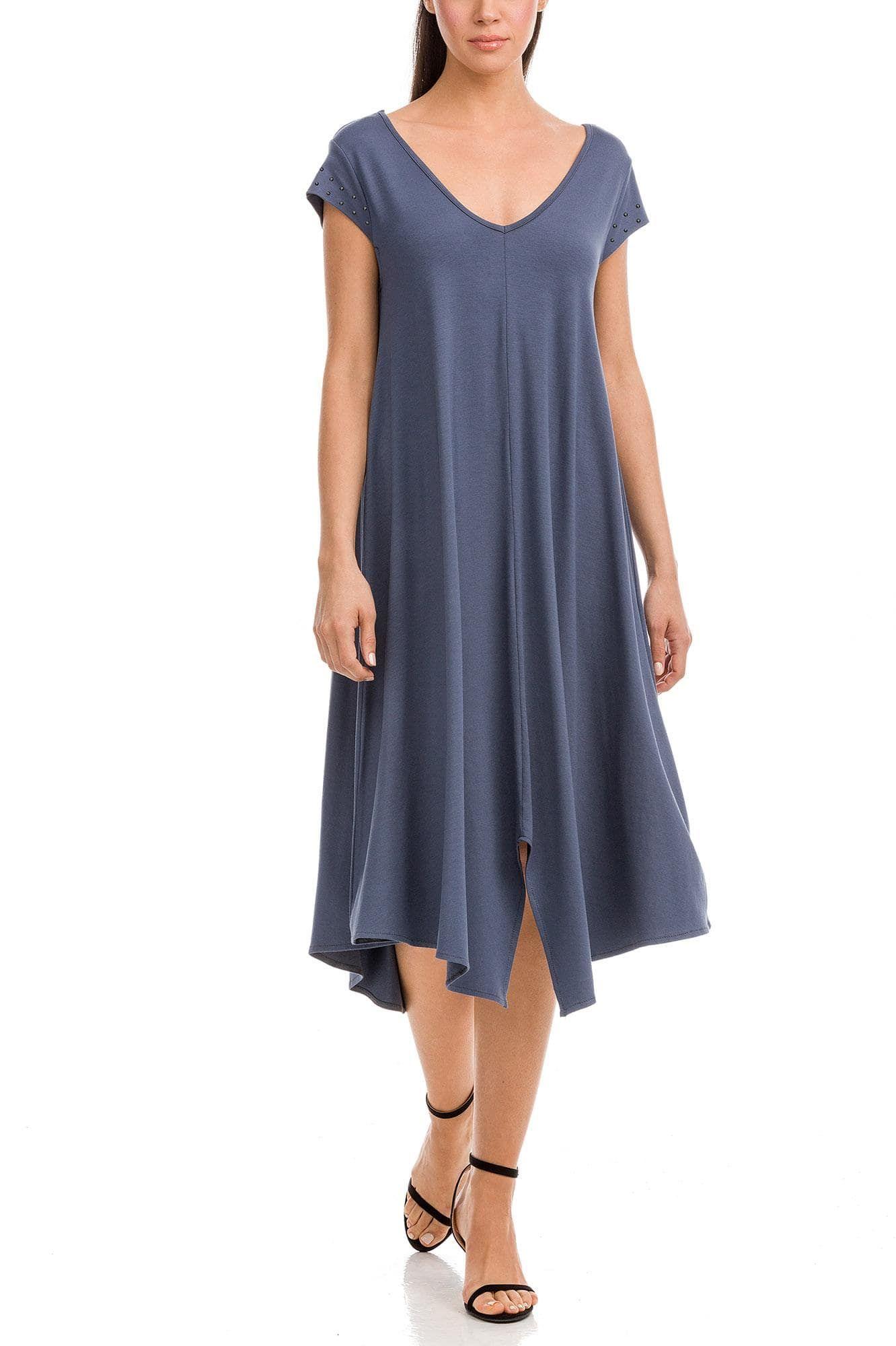 Φόρεμα Μονόχρωμο Ασύμμετρο