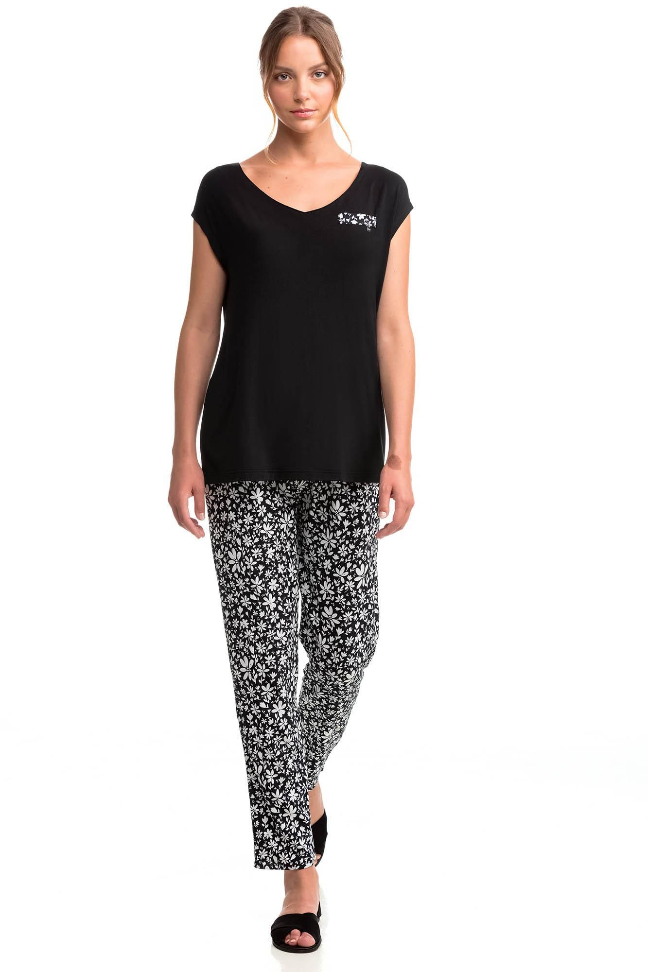 Women's Top and Floral Bottoms