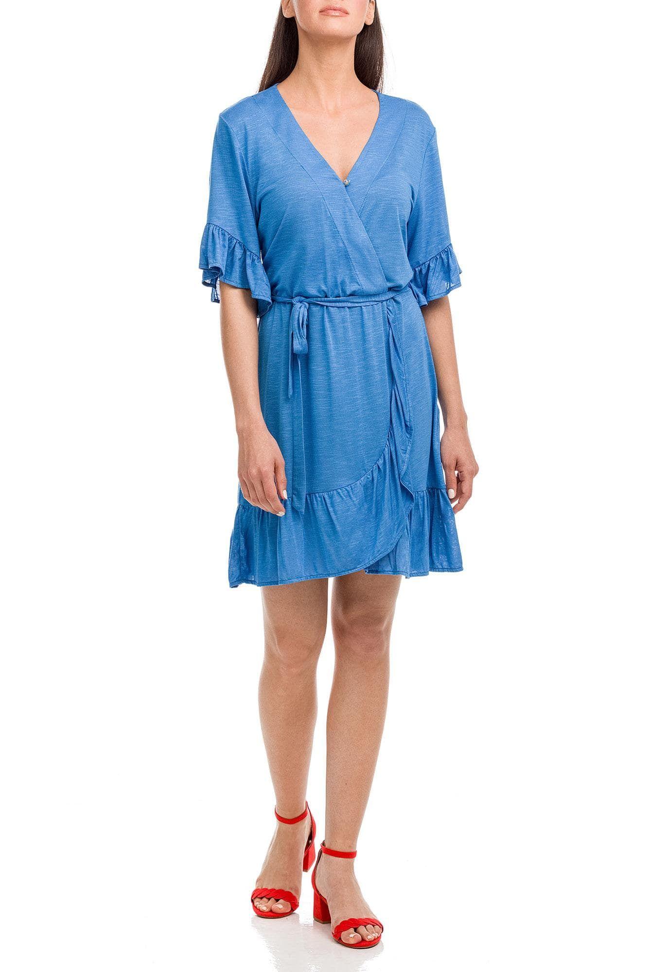 Φόρεμα Θαλάσσης Κρουαζέ Μονόχρωμο