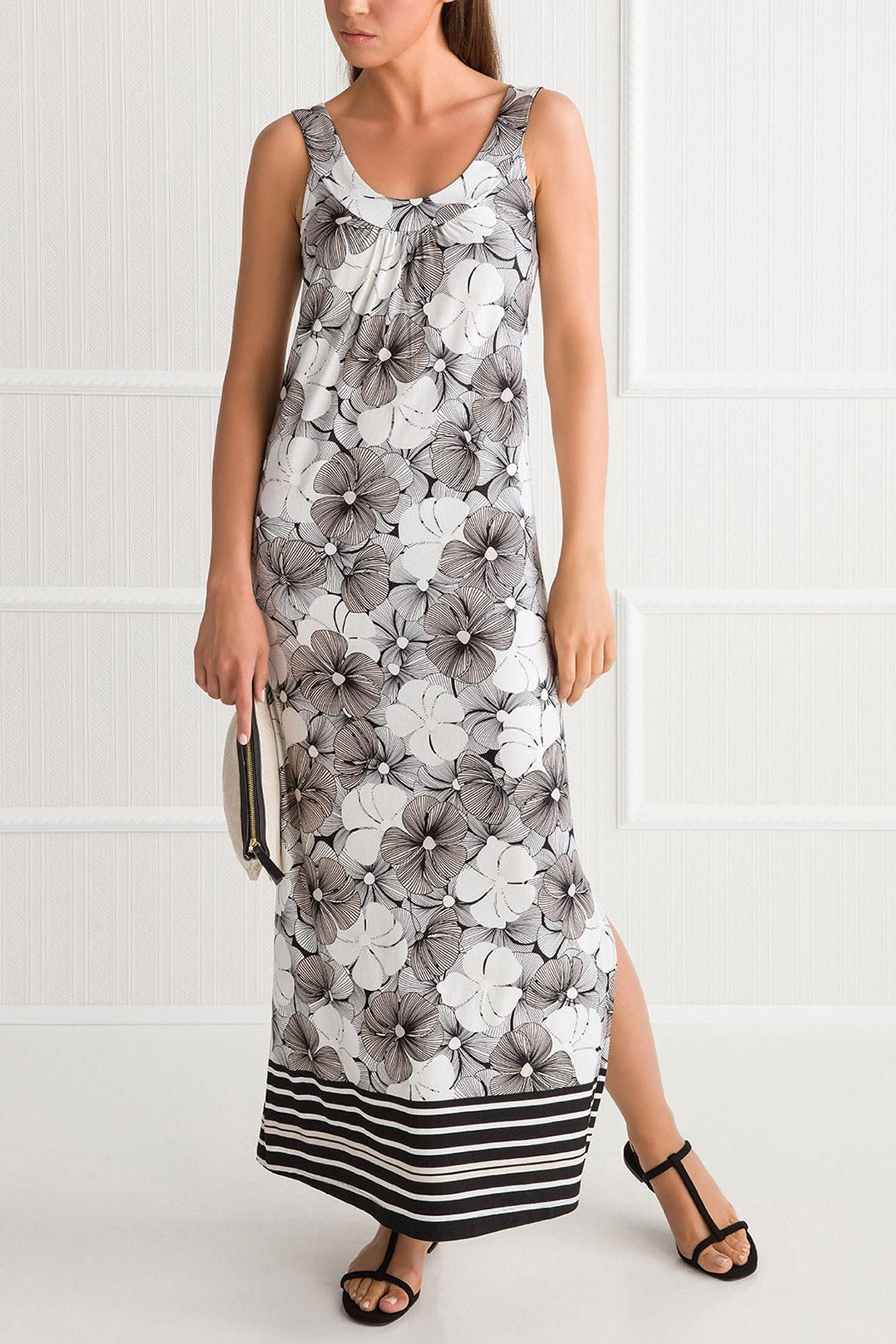 Φόρεμα Φλοράλ Μακρύ Plus Size