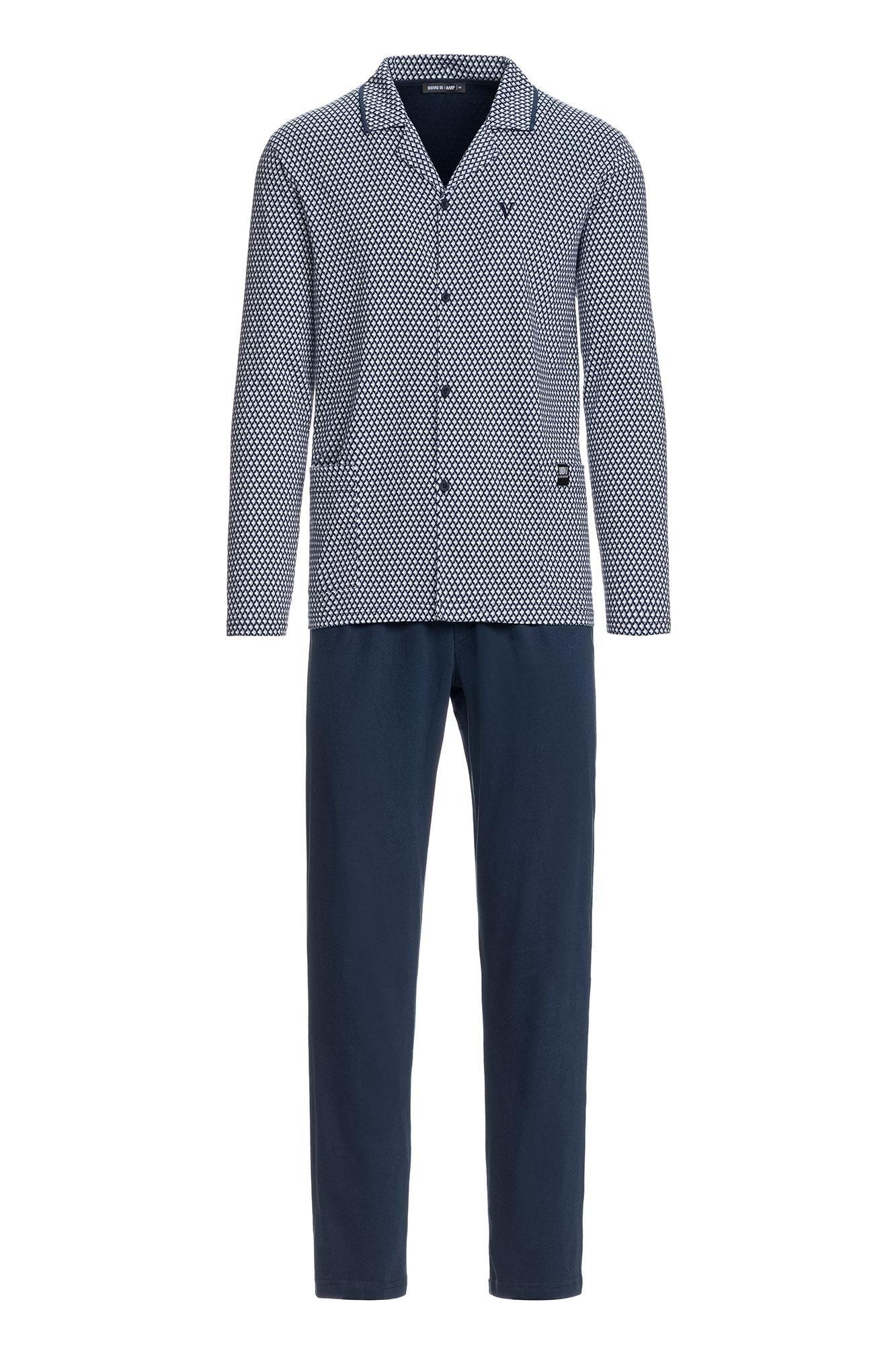 Men's Patterned Buttoned Pyjamas