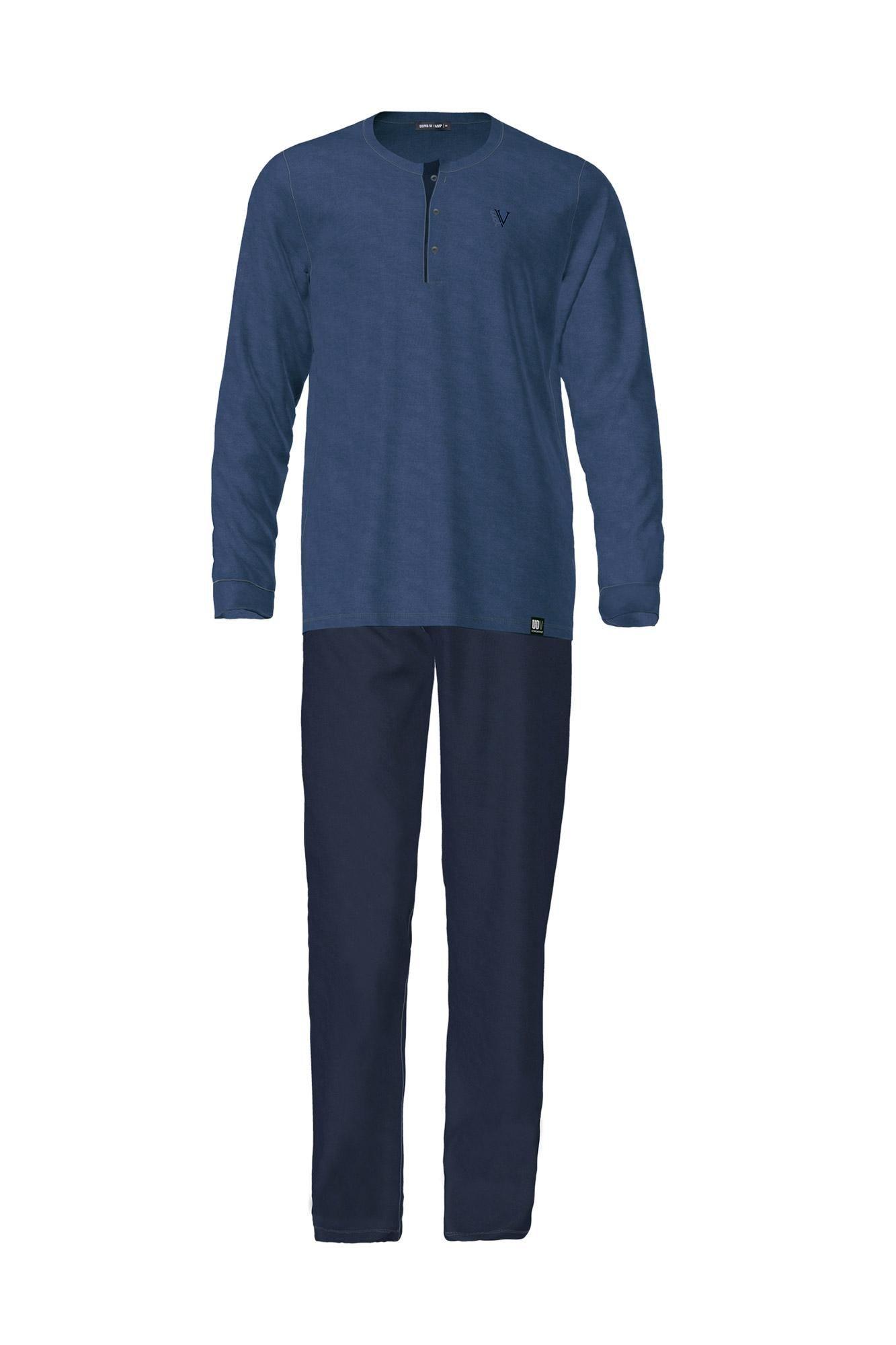 Men's Pyjamas with Button Placket Plus Size