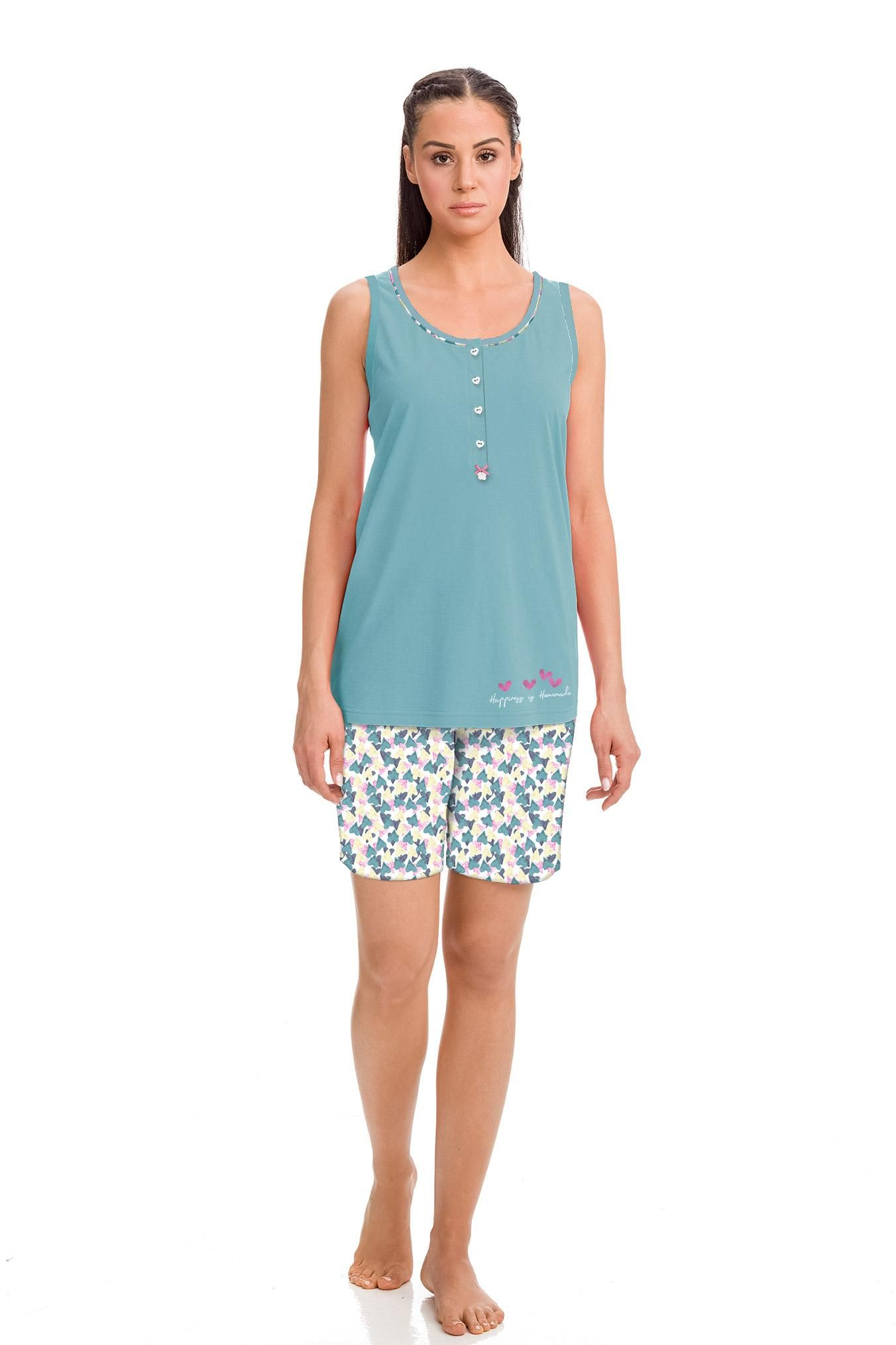 Women's Sleeveless Pyjamas with Bermuda Pants