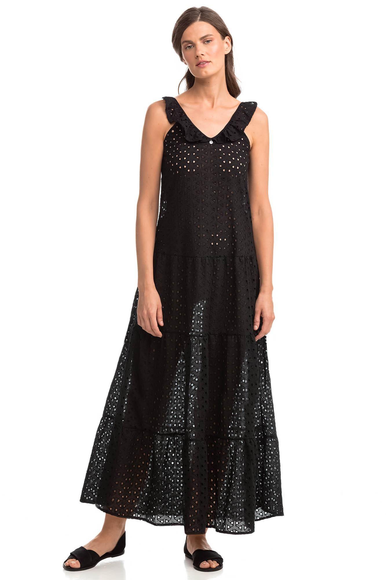 Sleeveless Maxi Jacquard Dress