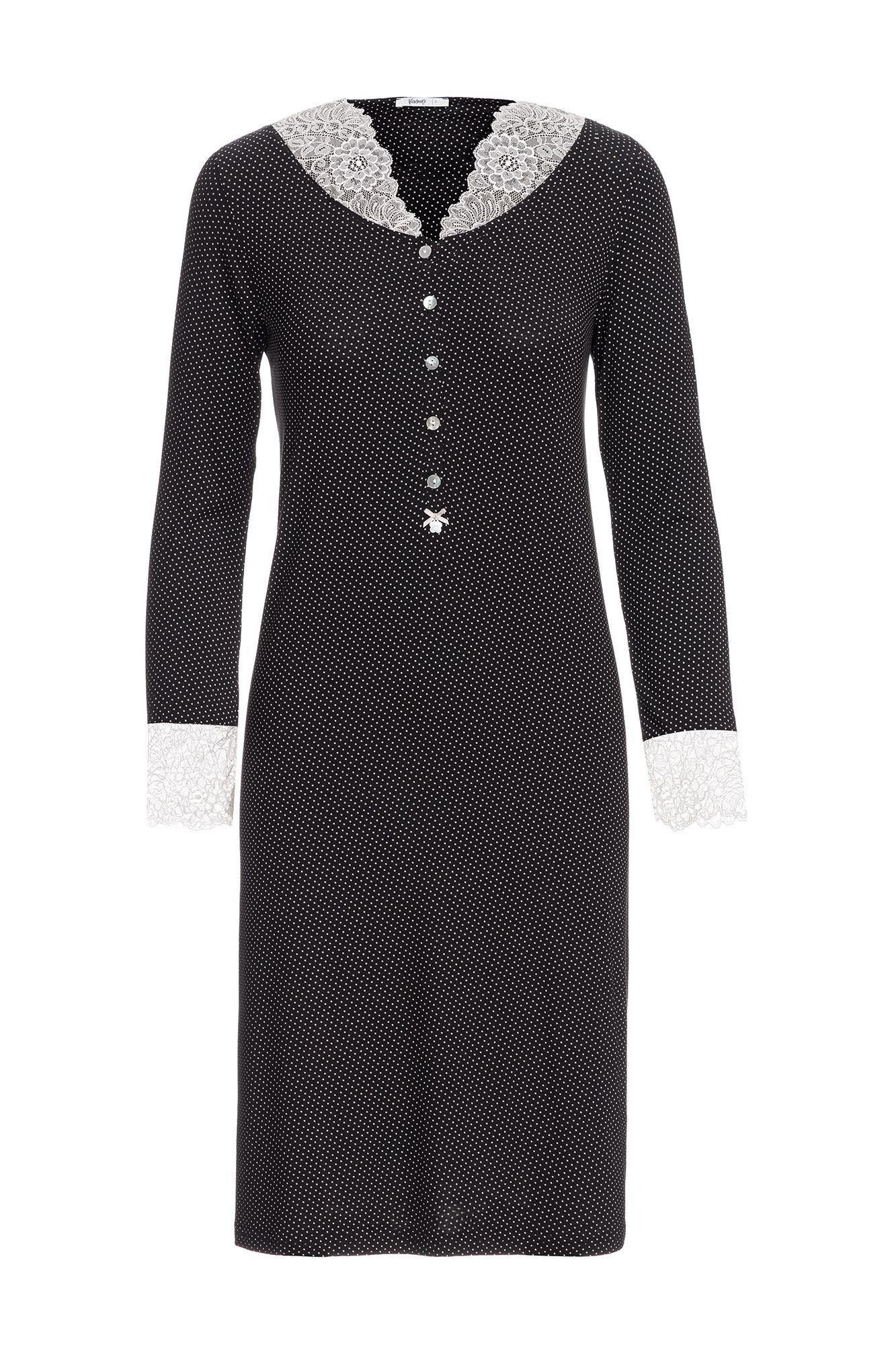 Women's Polka Dot Nightgown Plus Size