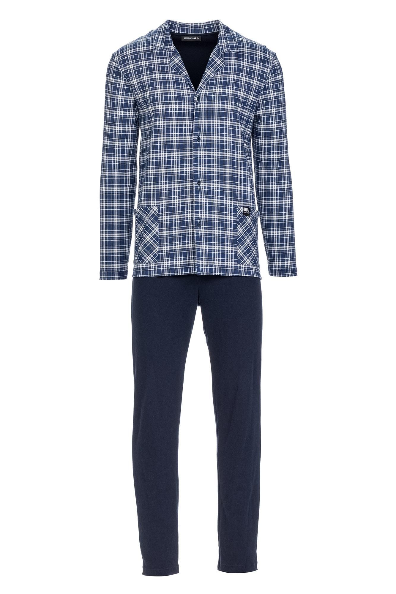Men's Plaid Buttoned Pyjamas