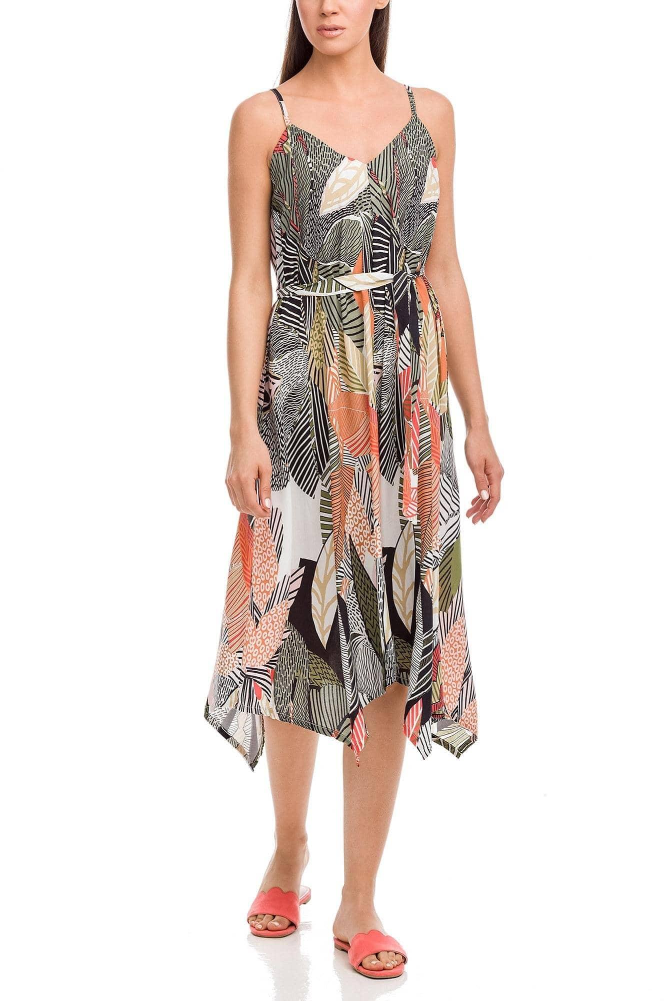 Ασύμμετρο Tropical Φόρεμα Θαλάσσης