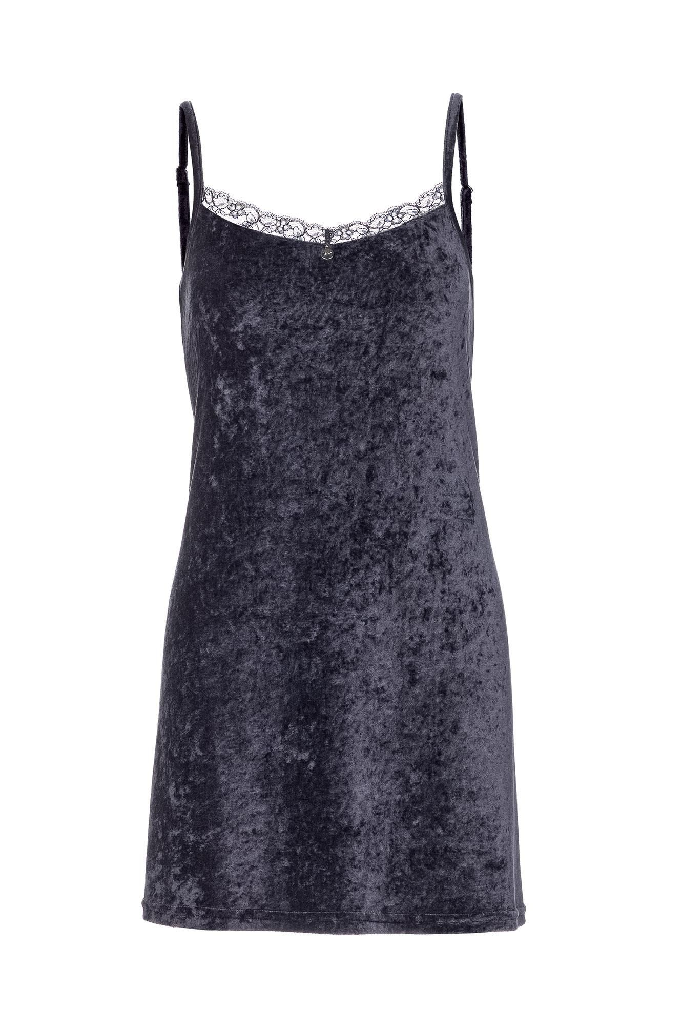 Women's Velour Sleeveless Nightgown