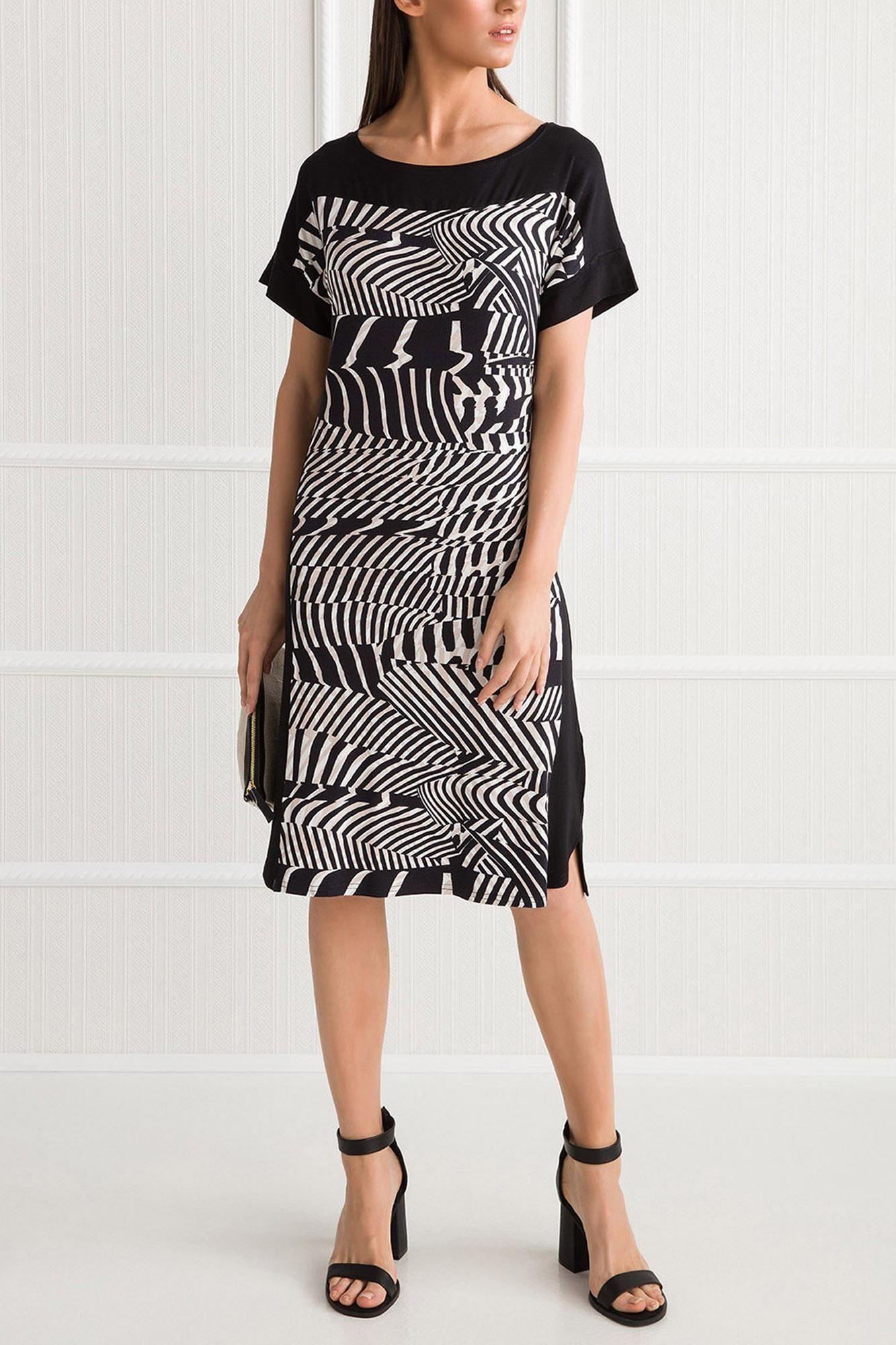 Κοντομάνικο Φόρεμα Μωσαϊκό