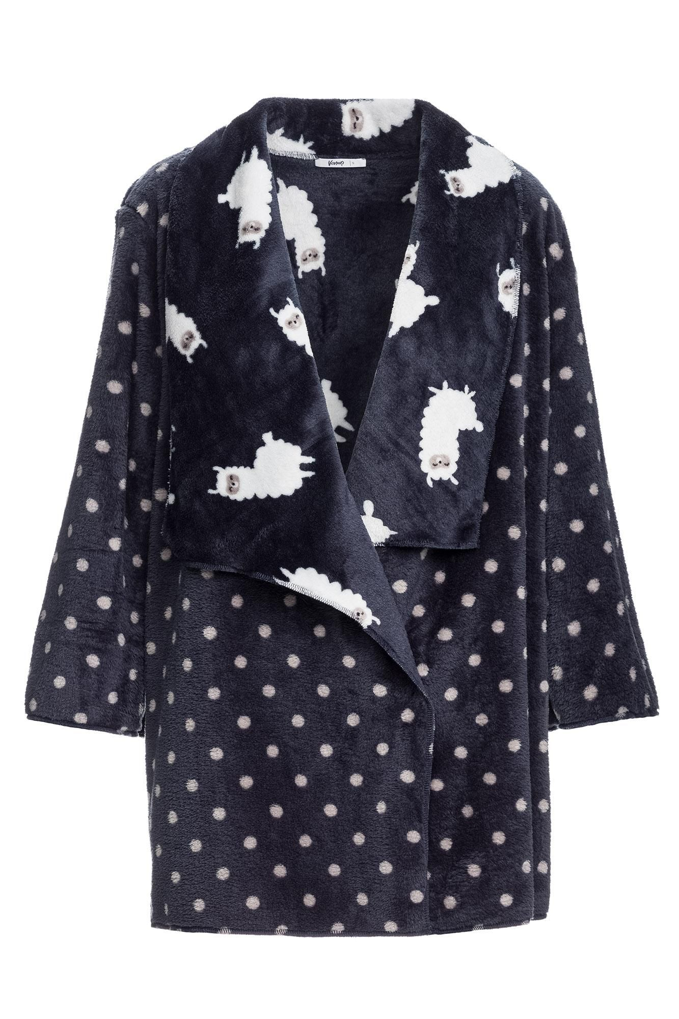"Women's Polka Dot Fleece Jacket ""Lama"""