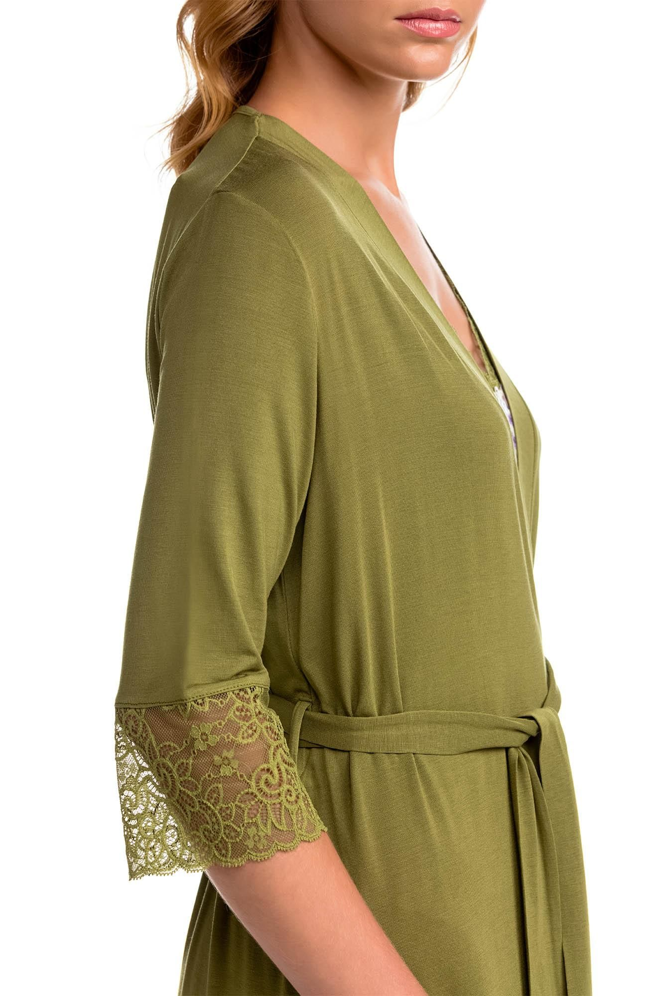 Women's Robe with Lace Details