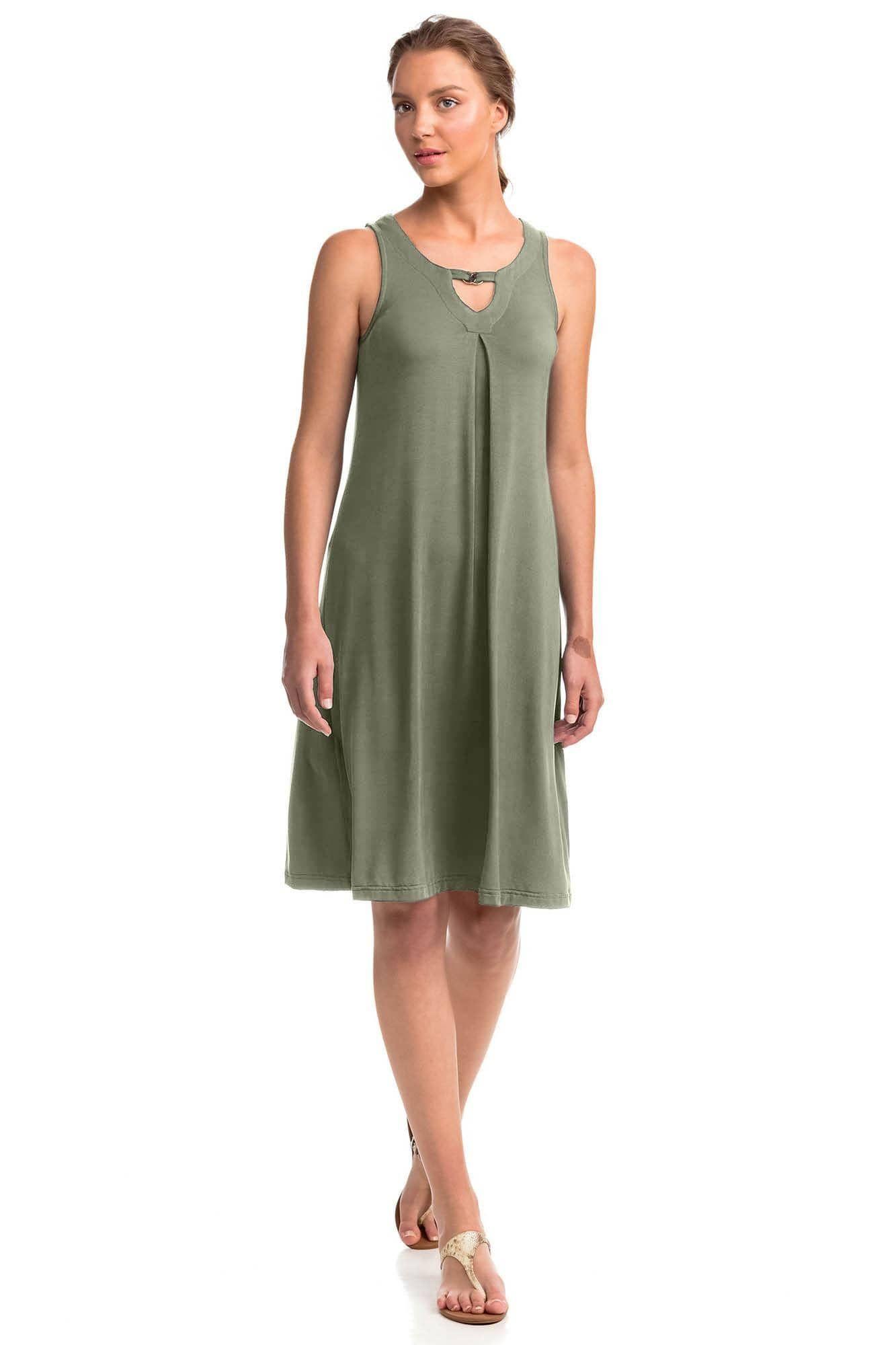 Αέρινο Μονόχρωμο Φόρεμα