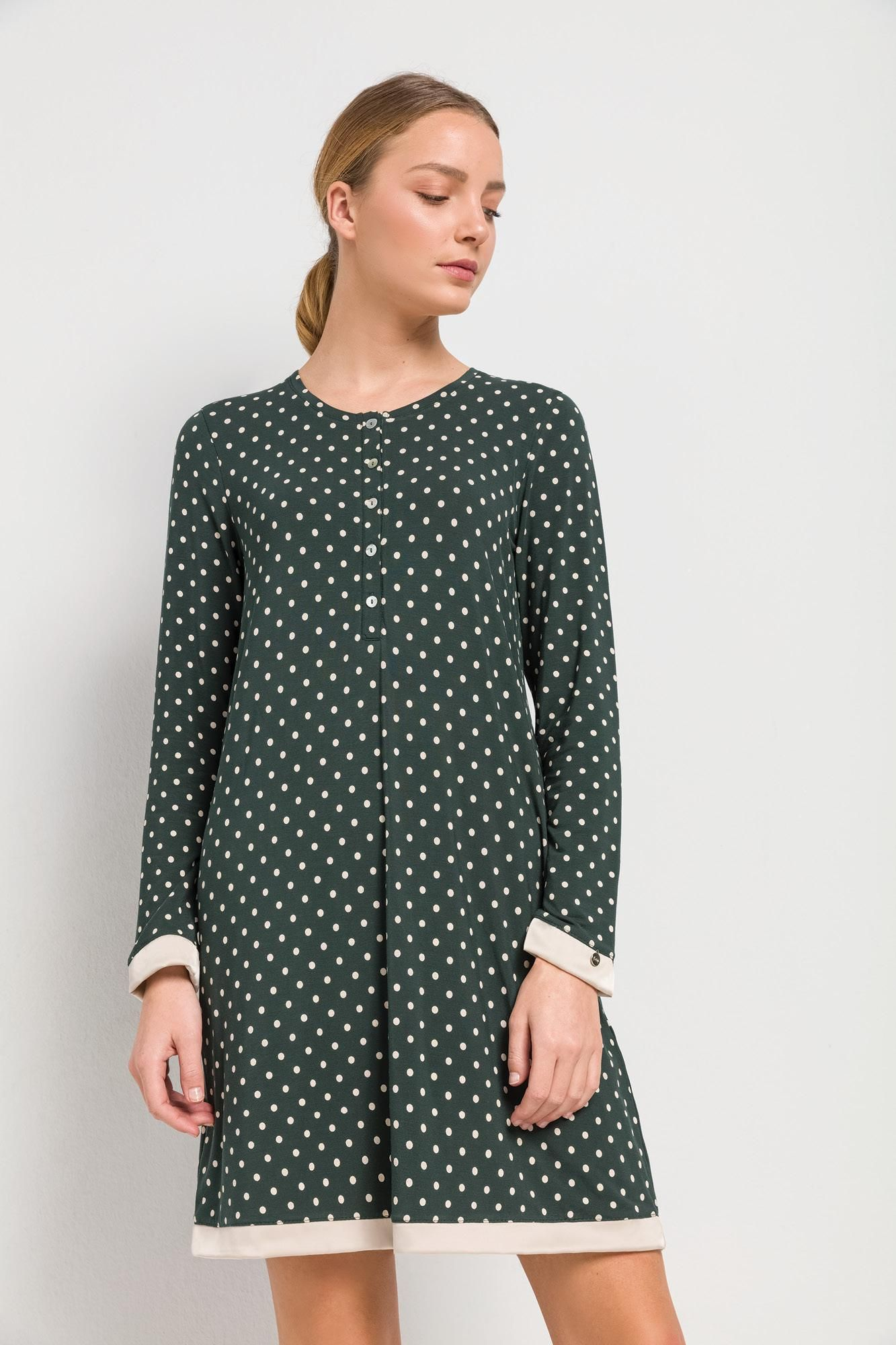 Women's Polka Dot Nursing Nightgown Plus Size