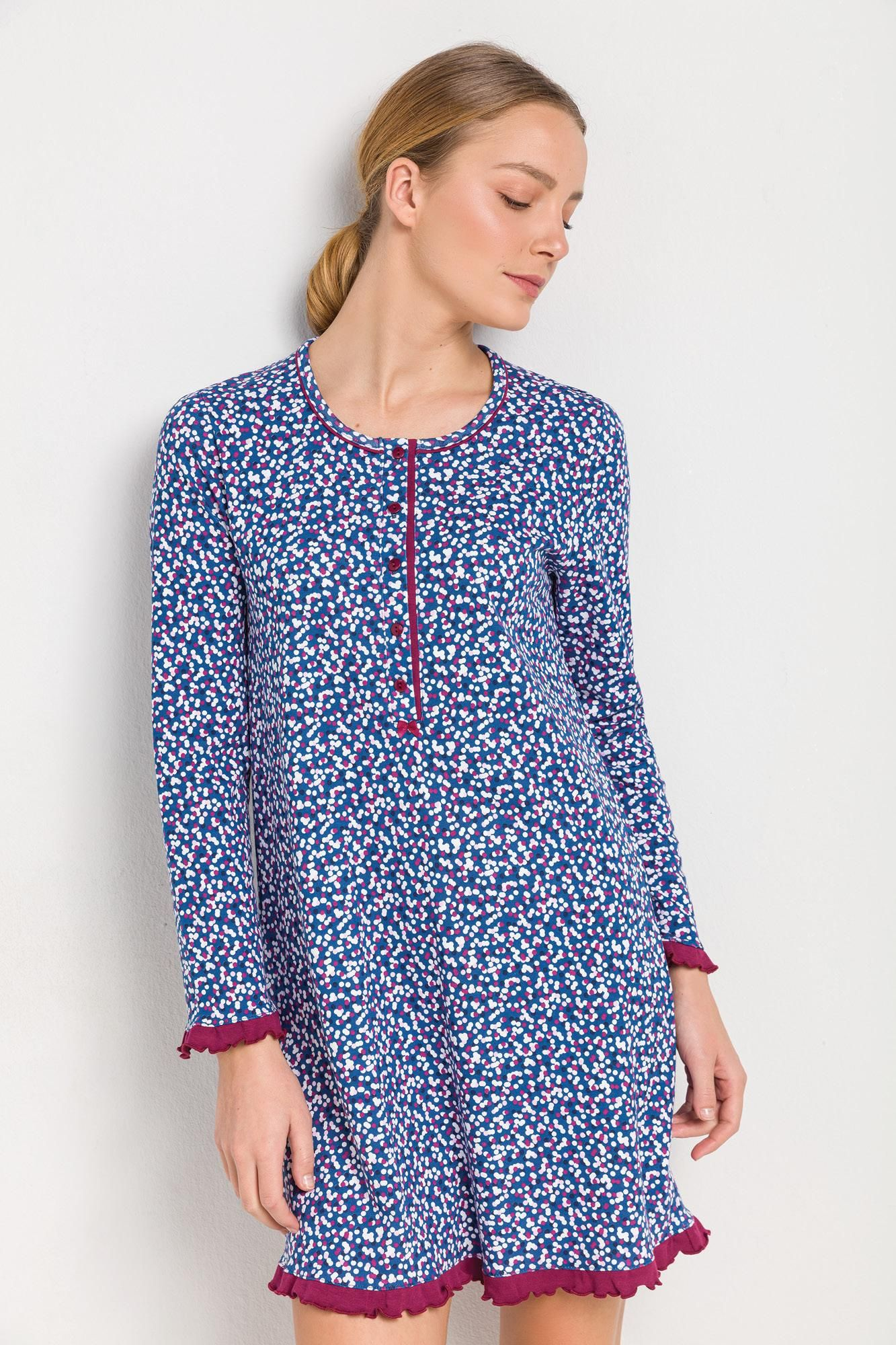 Women's Patterned Maternity Nightgown