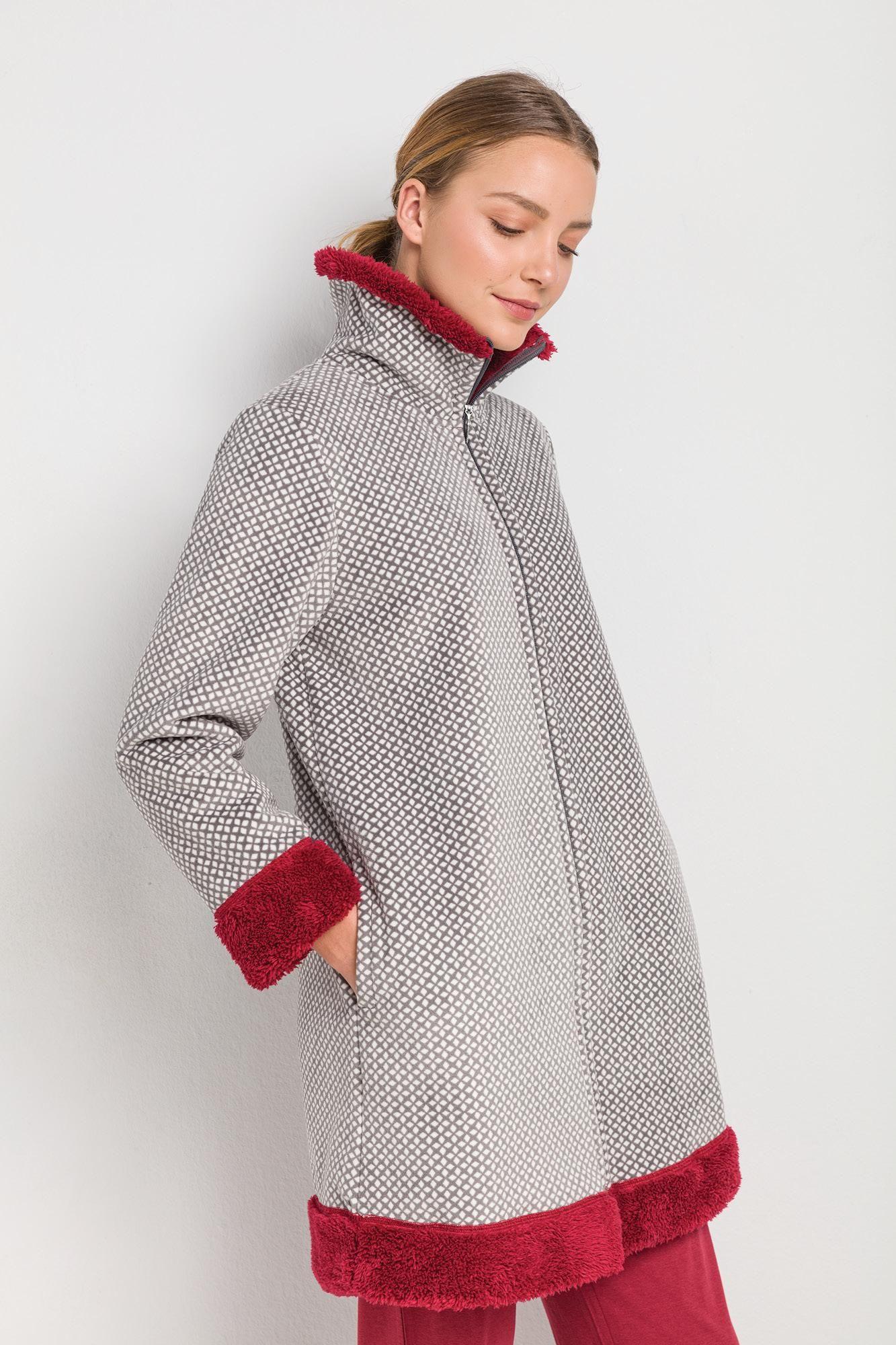 Γυναικεία Ρόμπα Fleece με Φερμουάρ