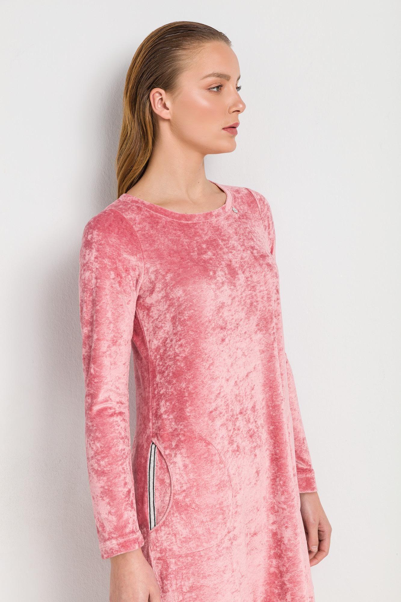 Γυναικείο Φόρεμα Βελουτέ με Τσέπες
