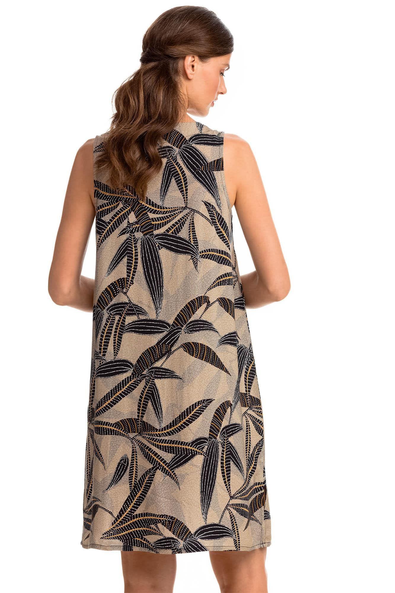 Αμάνικο Εμπριμέ Φόρεμα