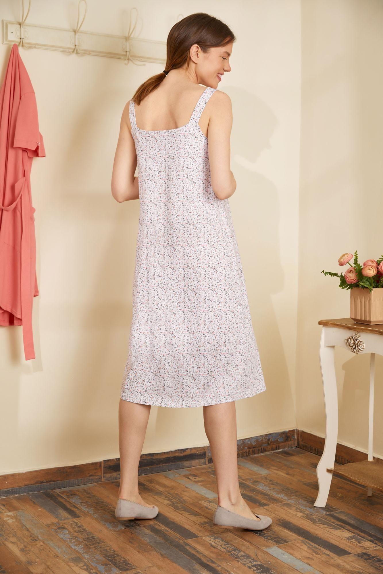 Sleeveless Printed Nightgown