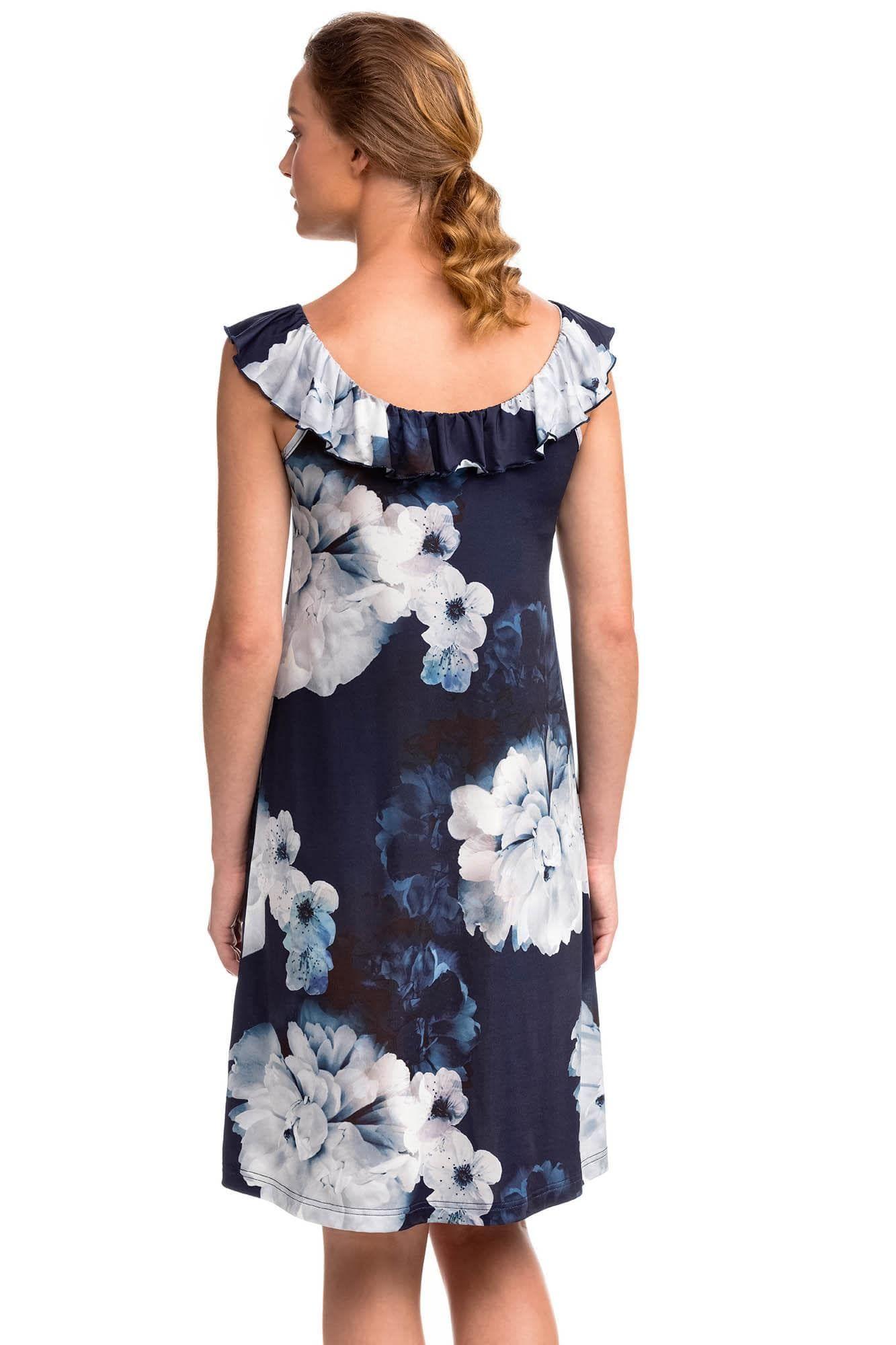 Sleeveless Dress with Frill