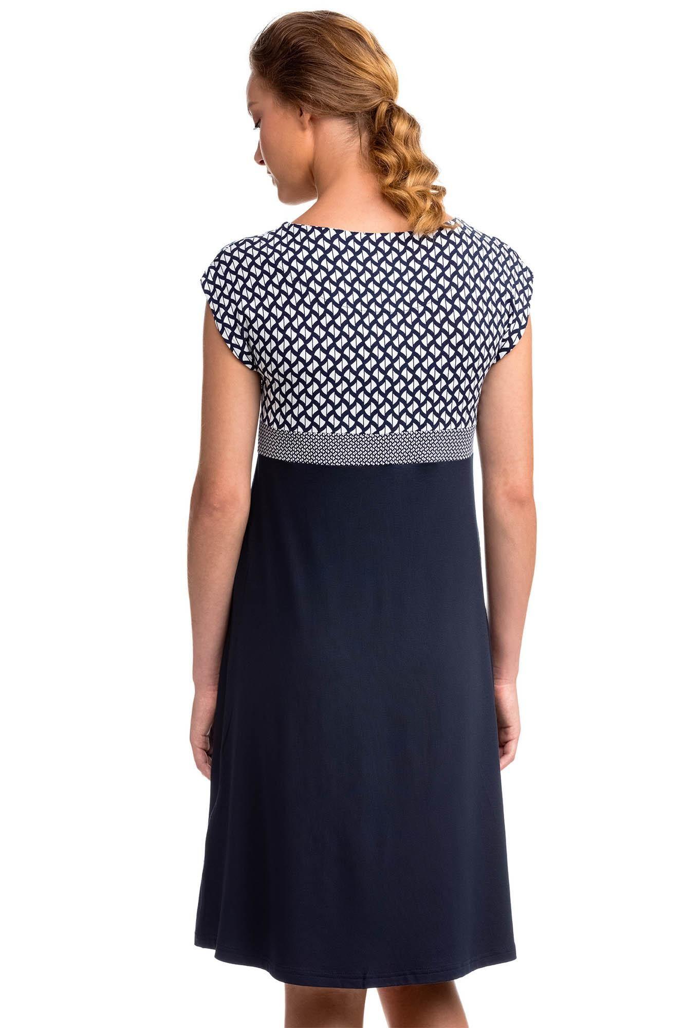 Short Sleeved A-Line Dress