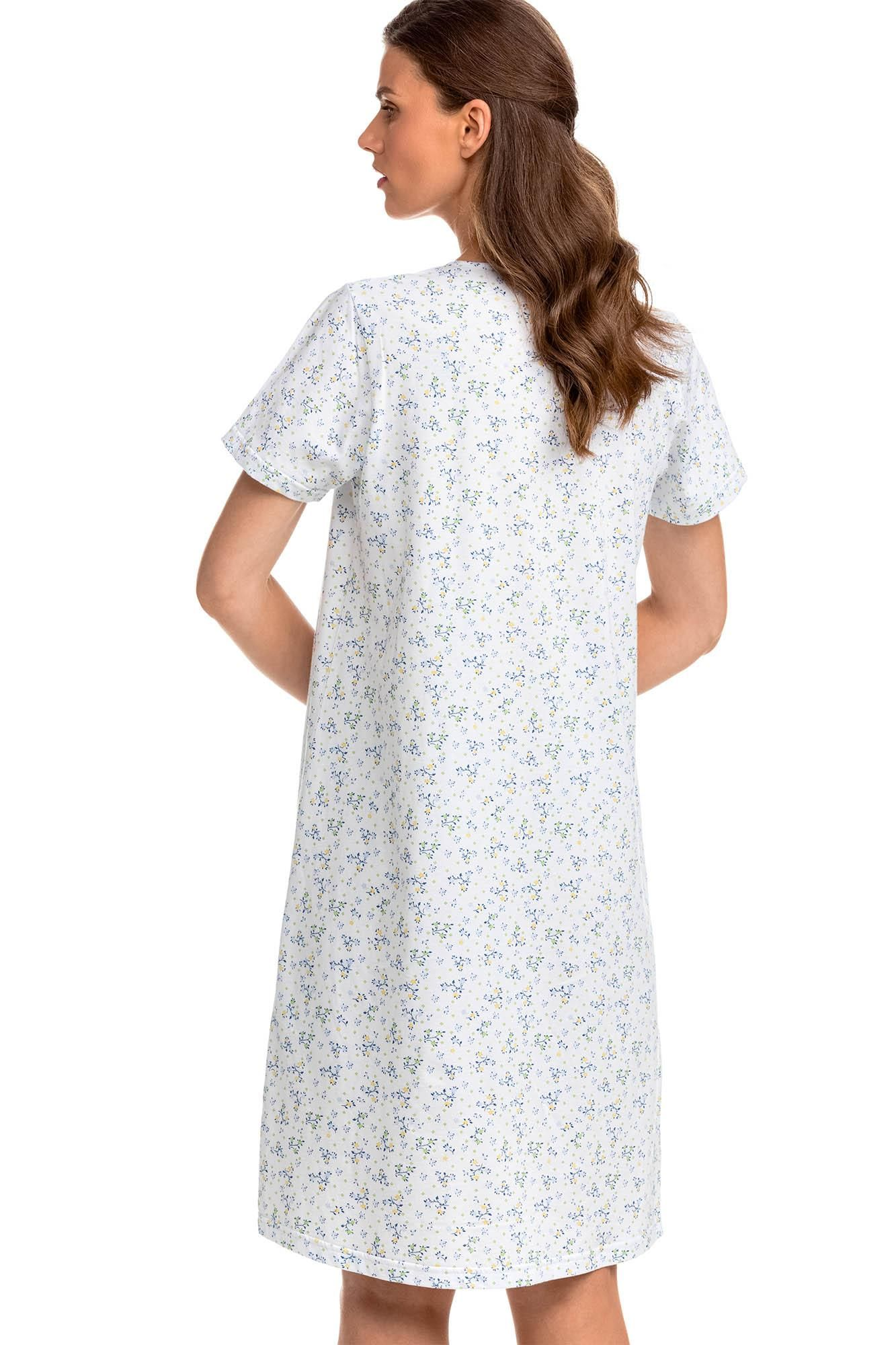 Nightgown with Button Placket